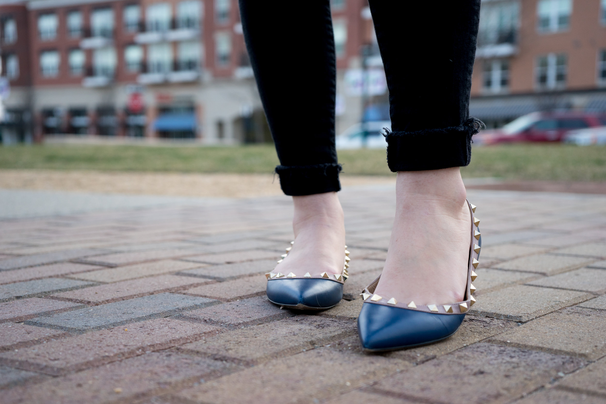 Maggie a la Mode - One Woman's Trash Is My Treasure Valentino Rockstud Ballerina Flats-6.jpg