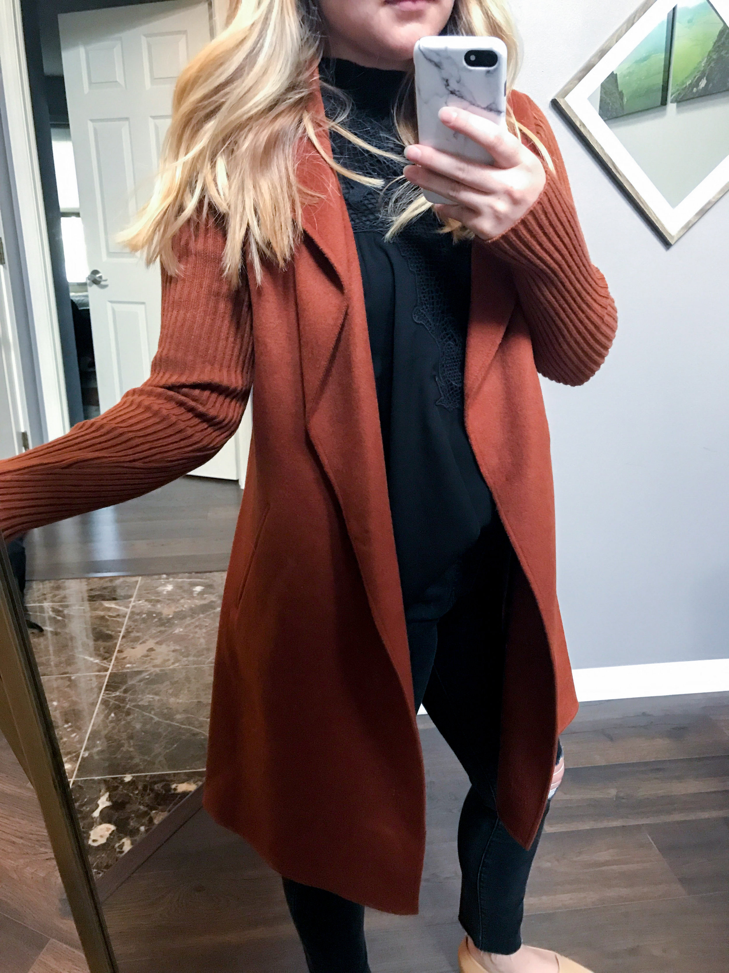 Maggie a la Mode - Kenneth Cole New York Double Face Coat