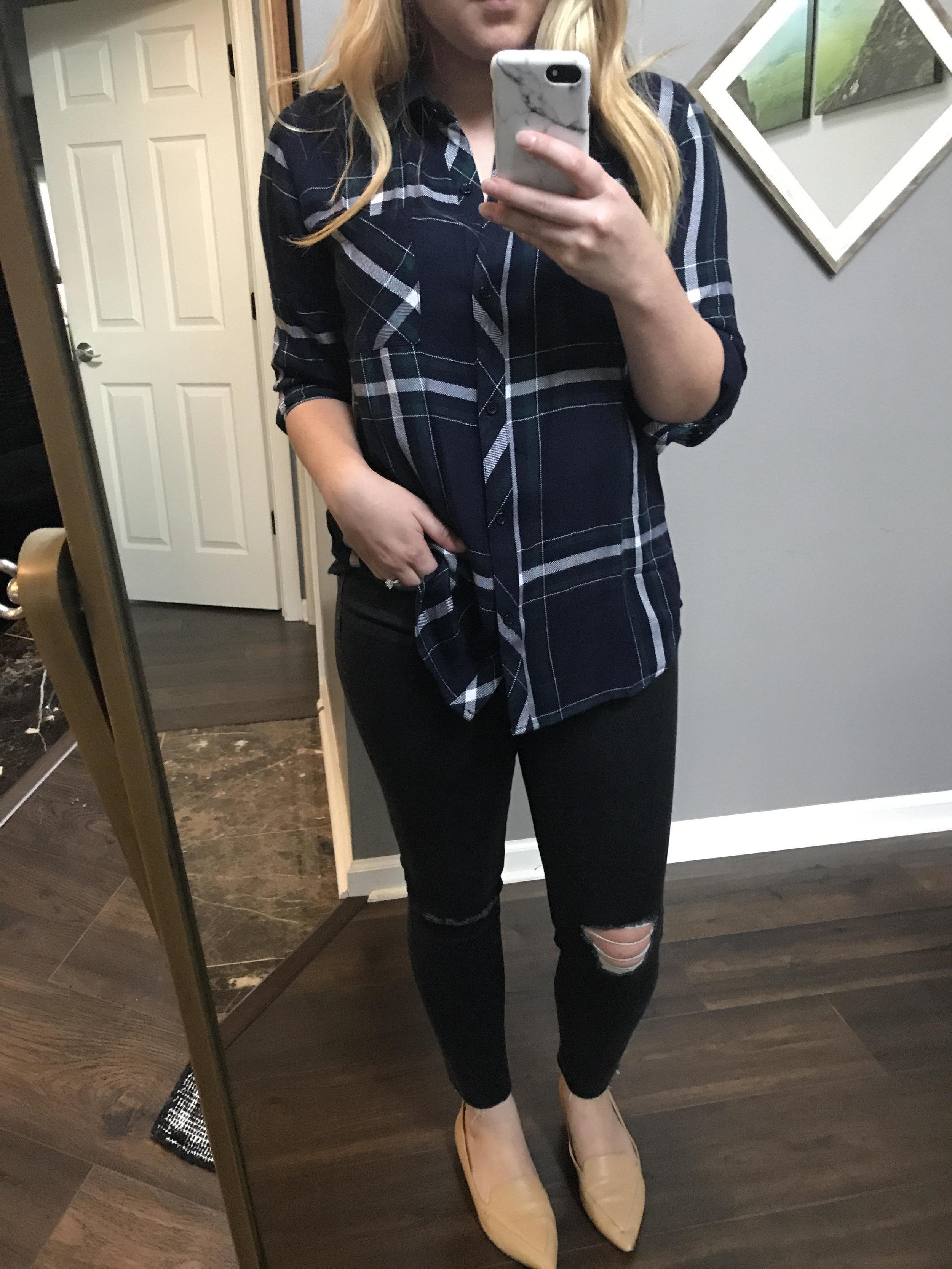 Maggie a la Mode - Rails Hunter Plaid Shirt