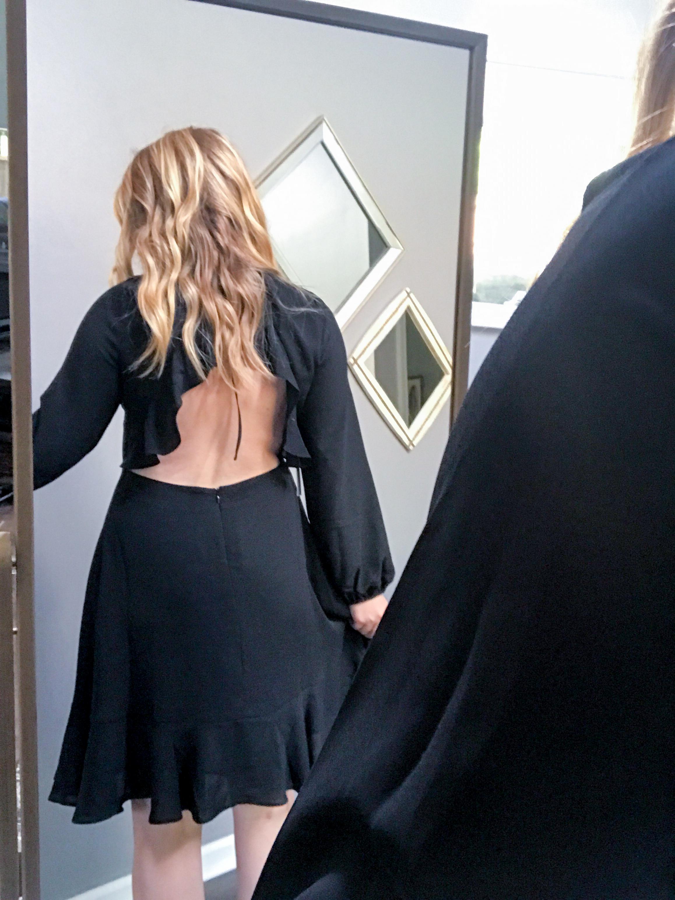 Maggie a la Mode - Chelsea28 Open Back Ruffle Dress