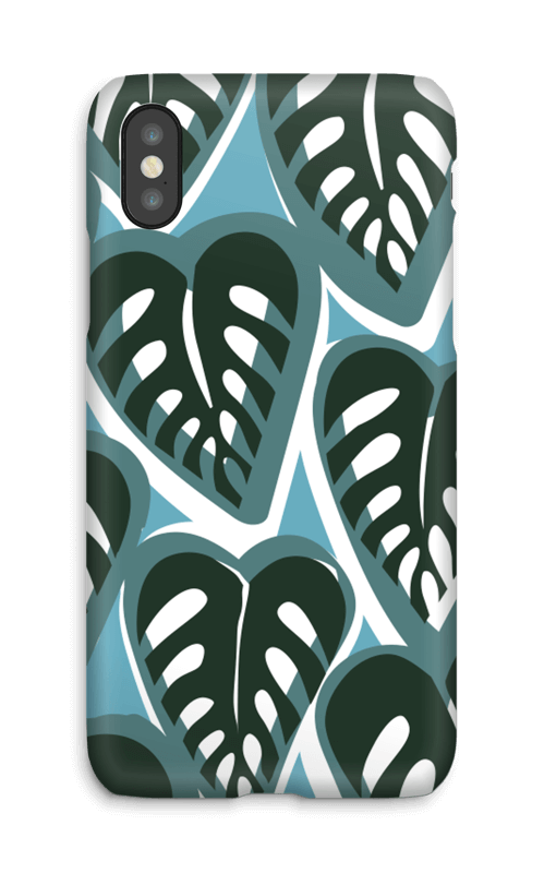 Maggie a la Mode - Last Minute Gifts Ideas with CaseApp iPhone Case Tropical Plants Dusty Turquoise.png