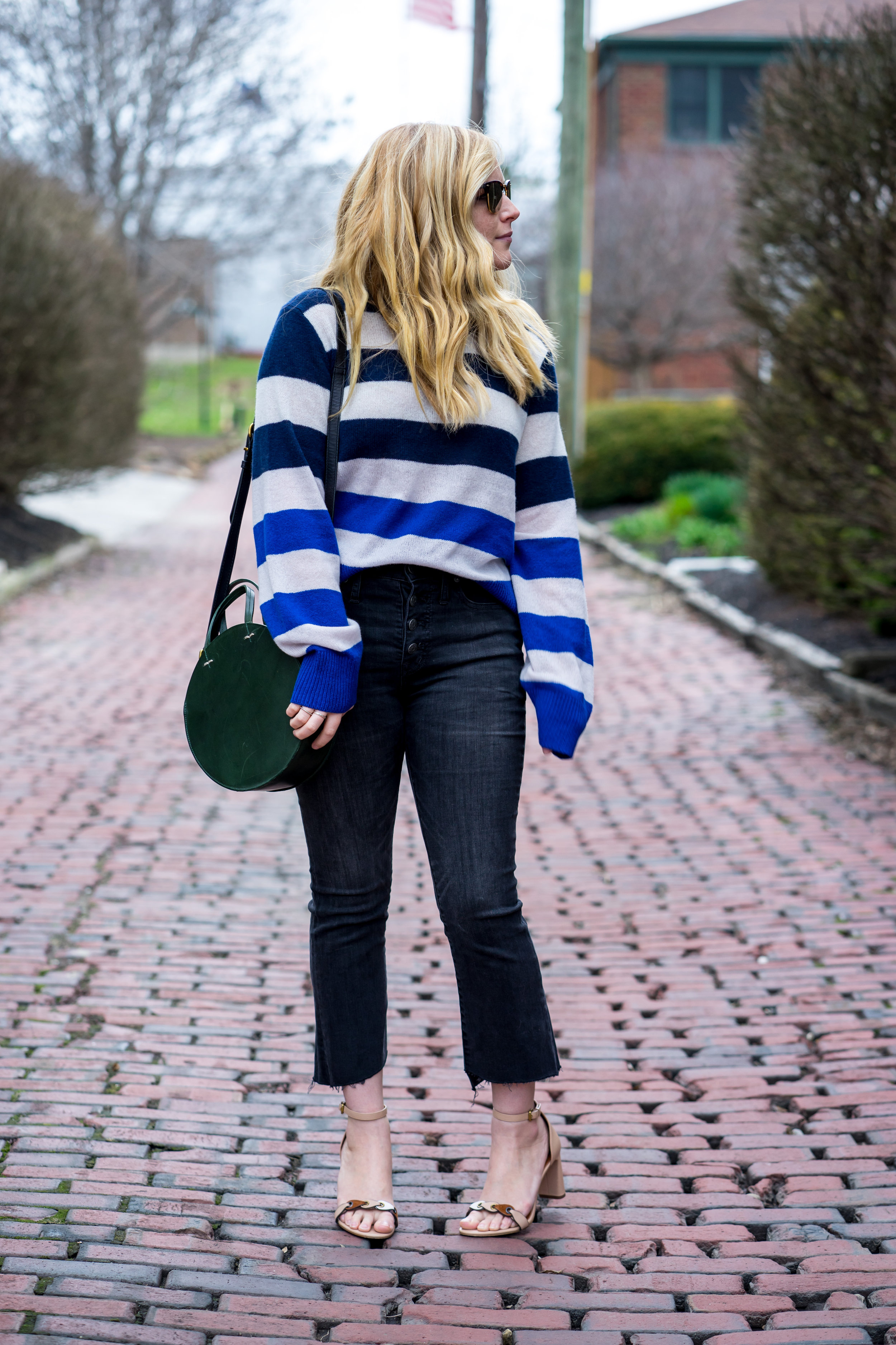 Maggie a la Mode - Yes You Can Wear Cropped Bootcut Jeans Madewell Cali Demi Boot