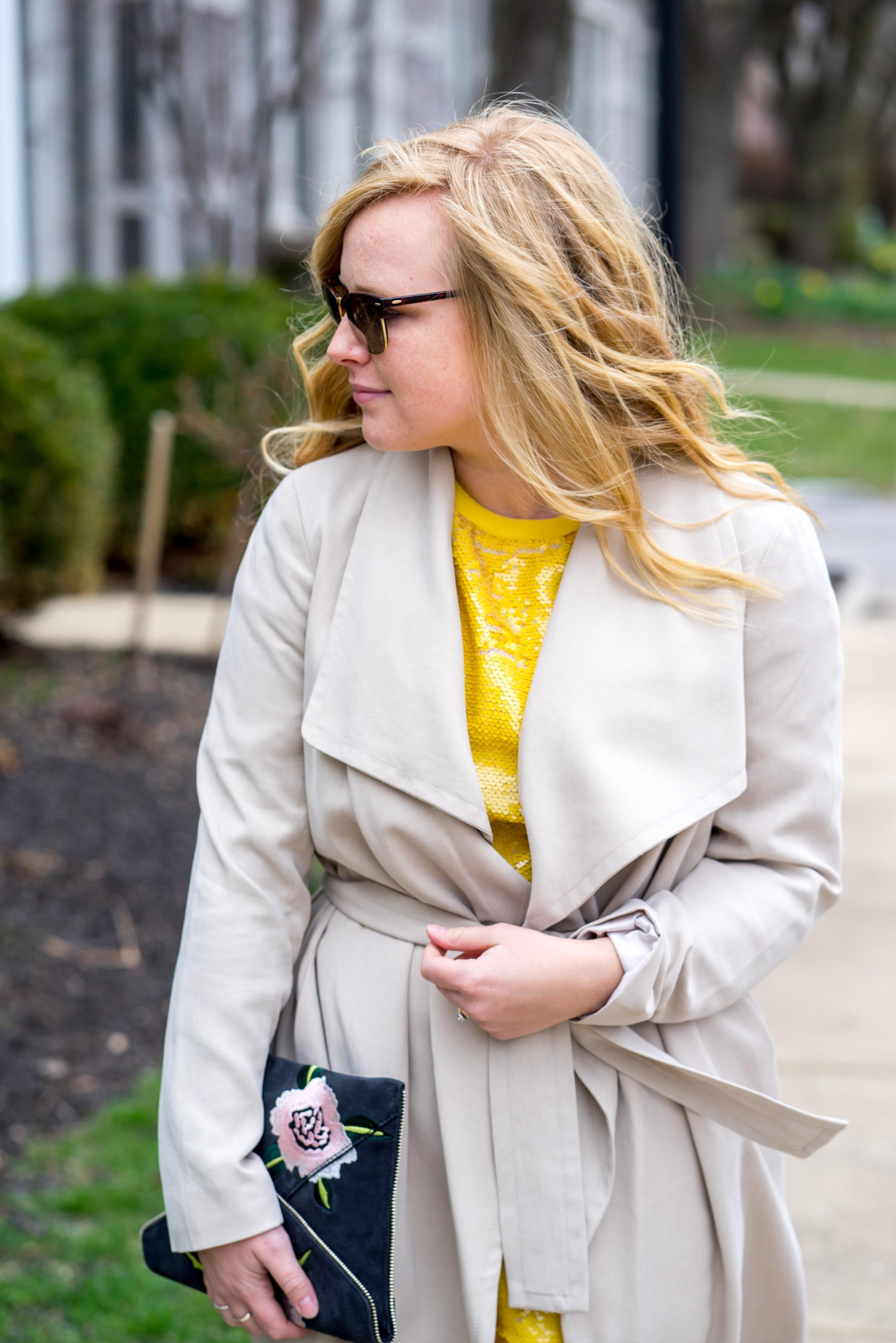 Maggie a la Mode - Be Bold Zara Yellow Sequin T Shirt Dress-5.jpg
