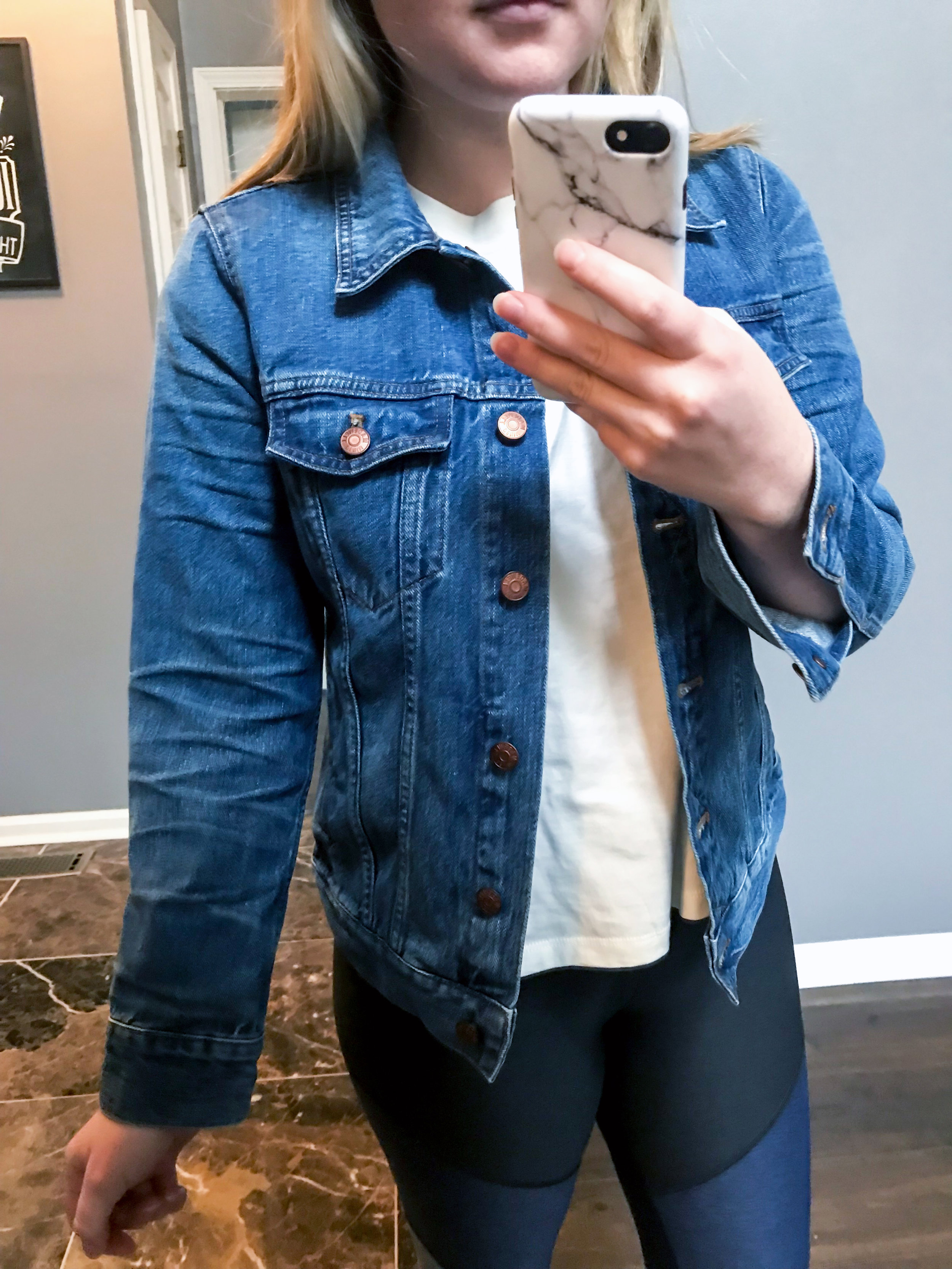Maggie a la Mode - Recent Home Try-Ons Madewell The Jean Jacket Pinter Wash.jpg