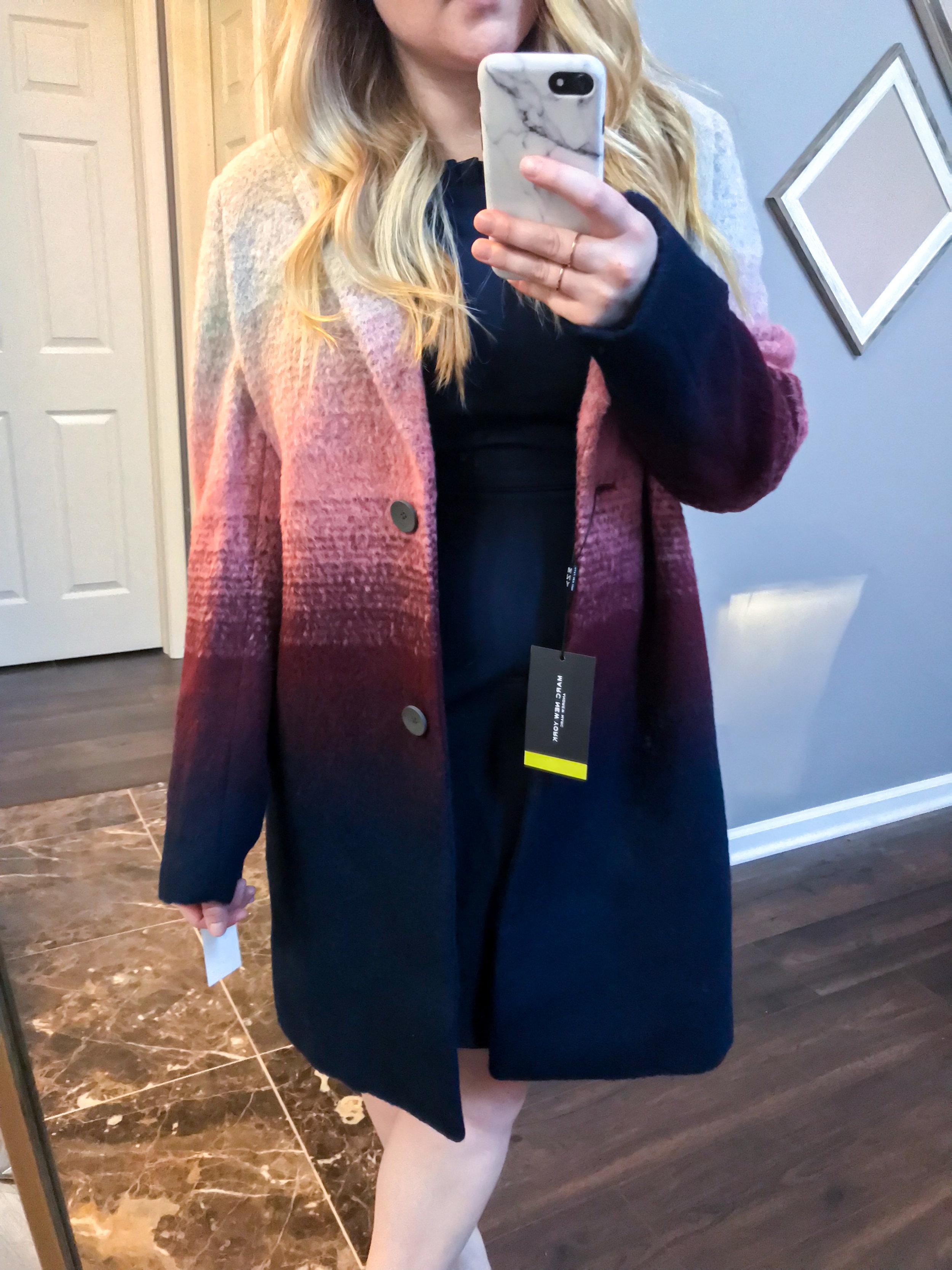 Maggie a la Mode Nordstrom Anniversary Sale 2018 Andrew Marc Ombre Two-Button Car Coat