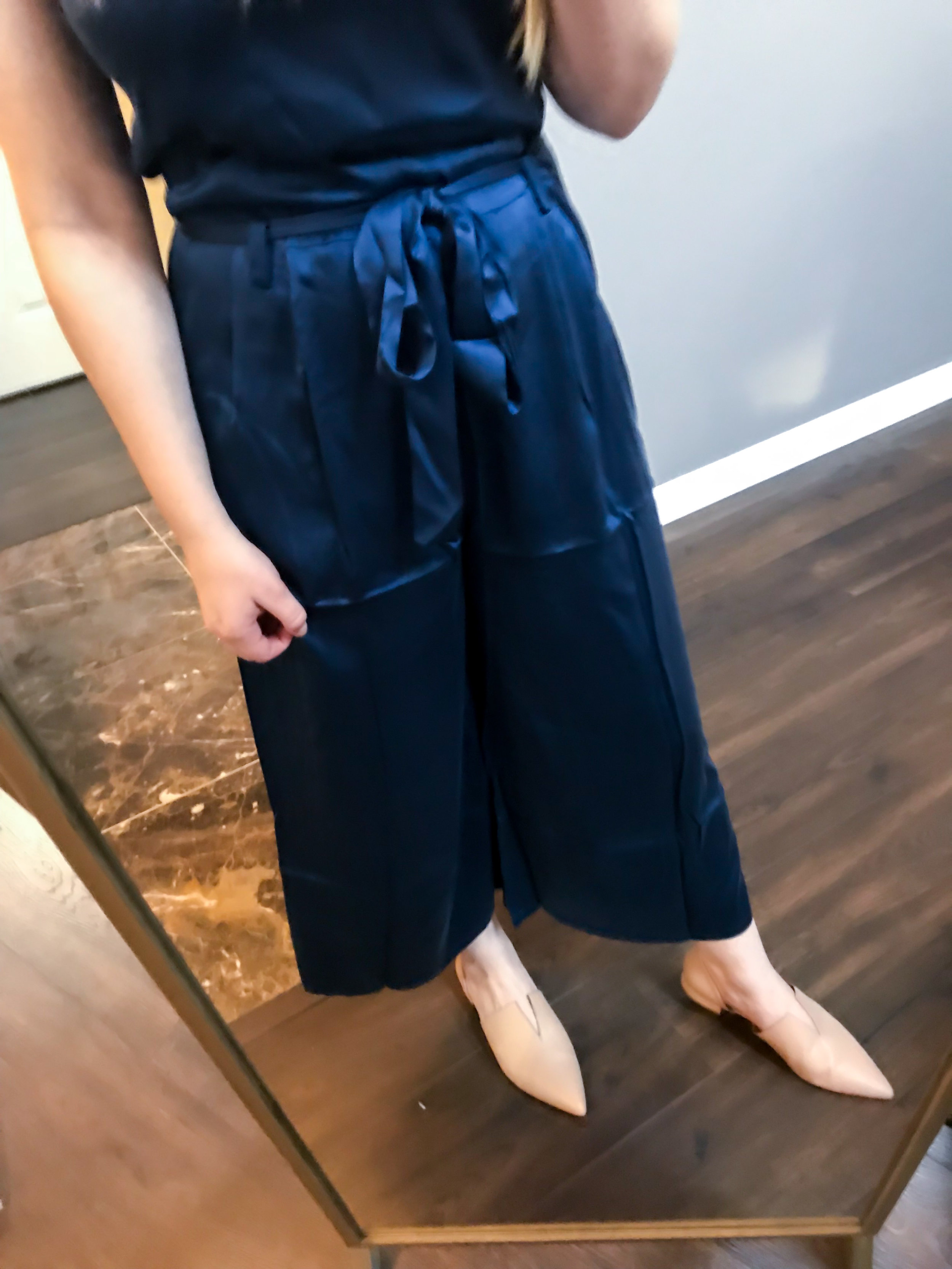 Maggie a la Mode Nordstrom Anniversary Sale 2018 Eileen Fisher Crop Silky Jumpsuit, Vince Darlington Flats