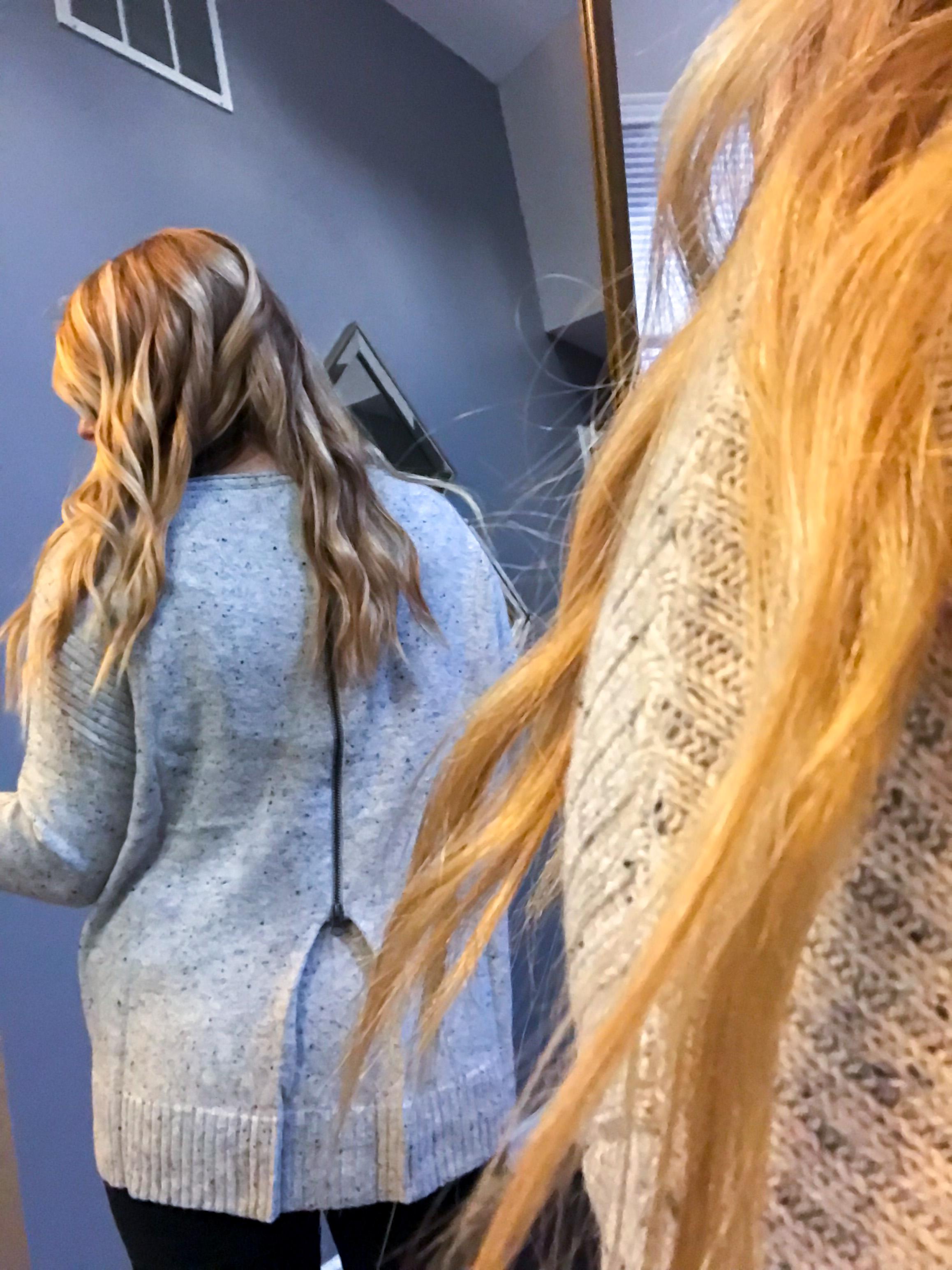 Maggie a la Mode Nordstrom Anniversary Sale 2018 Caslon Back Zip Pullover