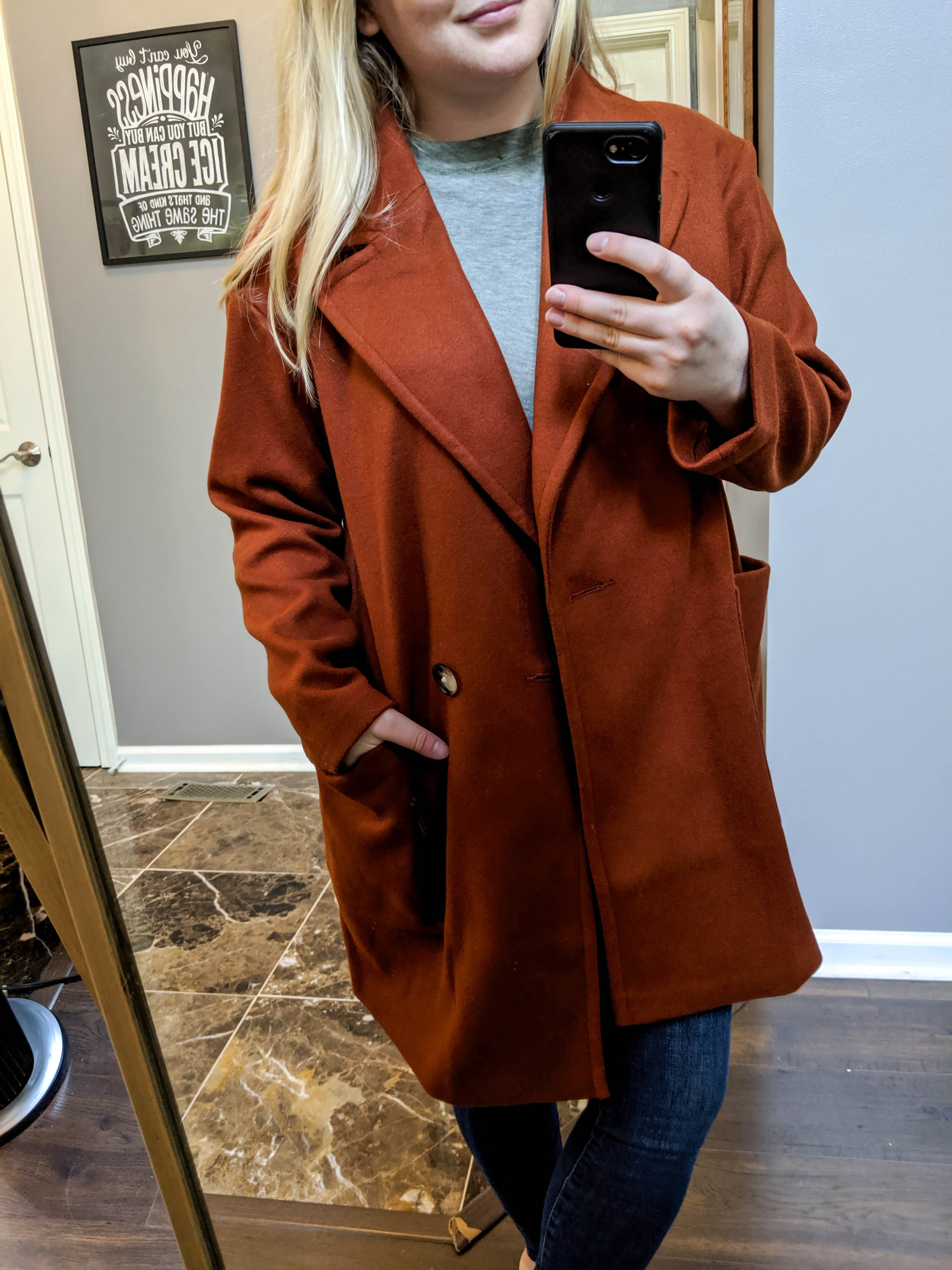 Maggie a la Mode 2019 Nordstrom Anniversary Sale Review Try On Real Body Topshop Carly Coat