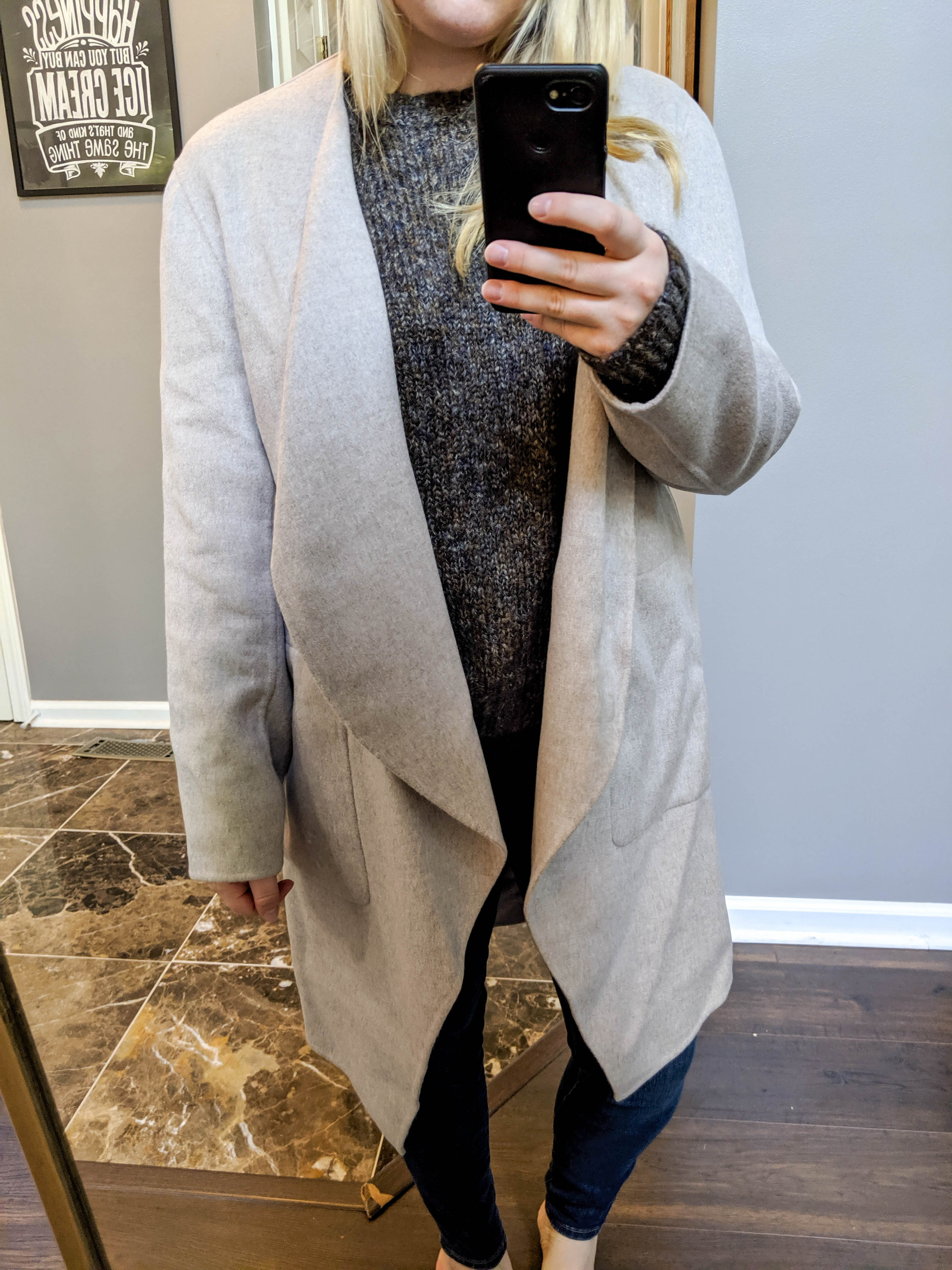 Maggie a la Mode 2019 Nordstrom Anniversary Sale Review Try On Real Body Nordstrom Signature Double Face Wool and Cashmere Coat