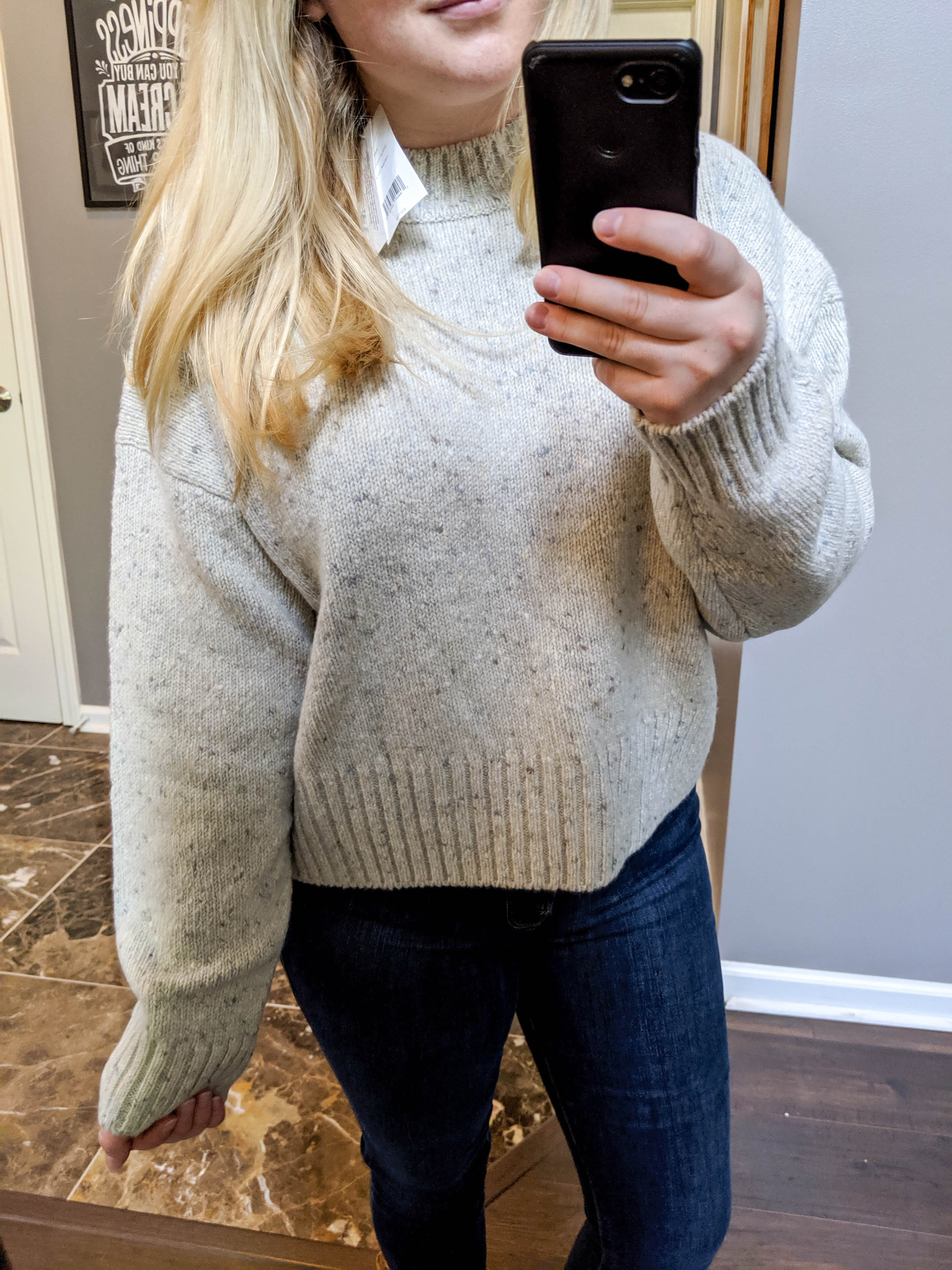 Maggie a la Mode 2019 Nordstrom Anniversary Sale Review Try On Real Body Vince Boxy High Neck Nep Merino Wool Blend Sweater