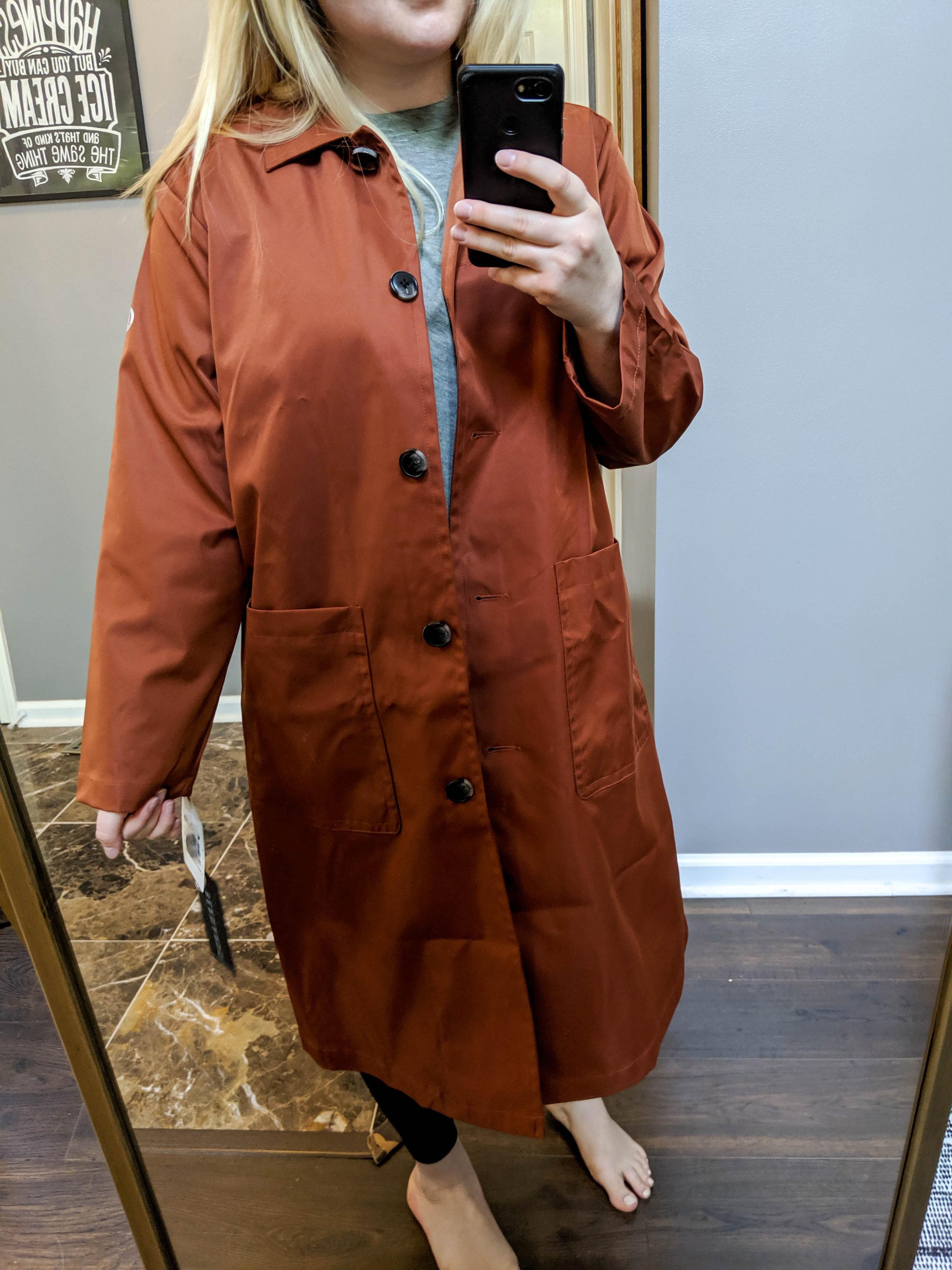Maggie a la Mode 2019 Nordstrom Anniversary Sale Review Try On Real Body Bernardo Long Water Resistant Microfiber Barn Jacket