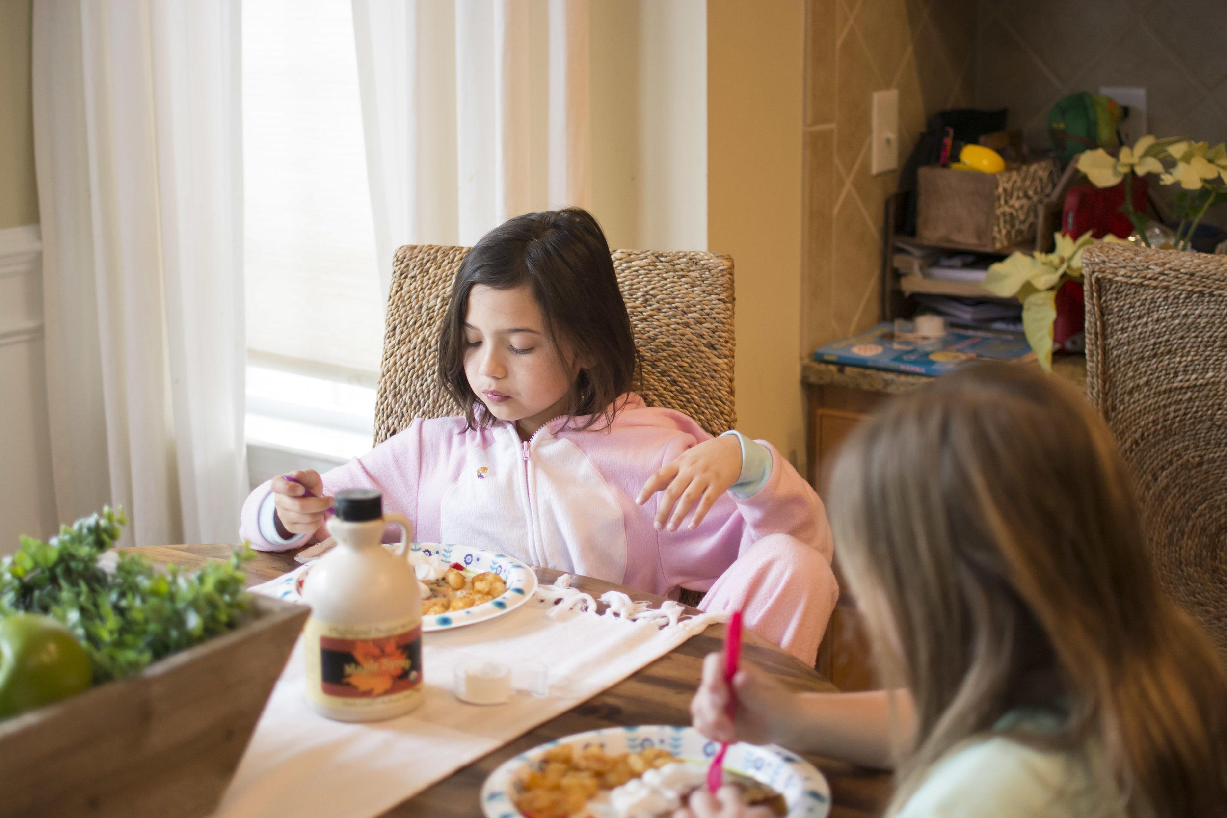 fort mill, sc family photographer  birthday confetti pancakes, breakfast