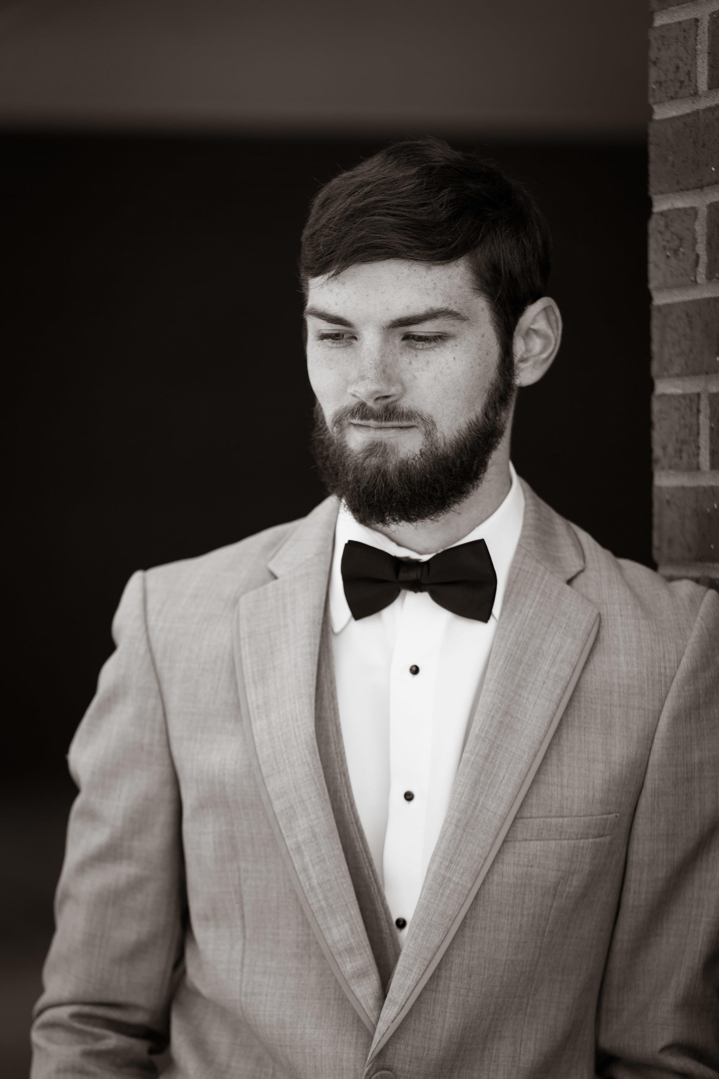 Greenville Wedding | Morningside Baptist Church Spartanburg SC Groom portait