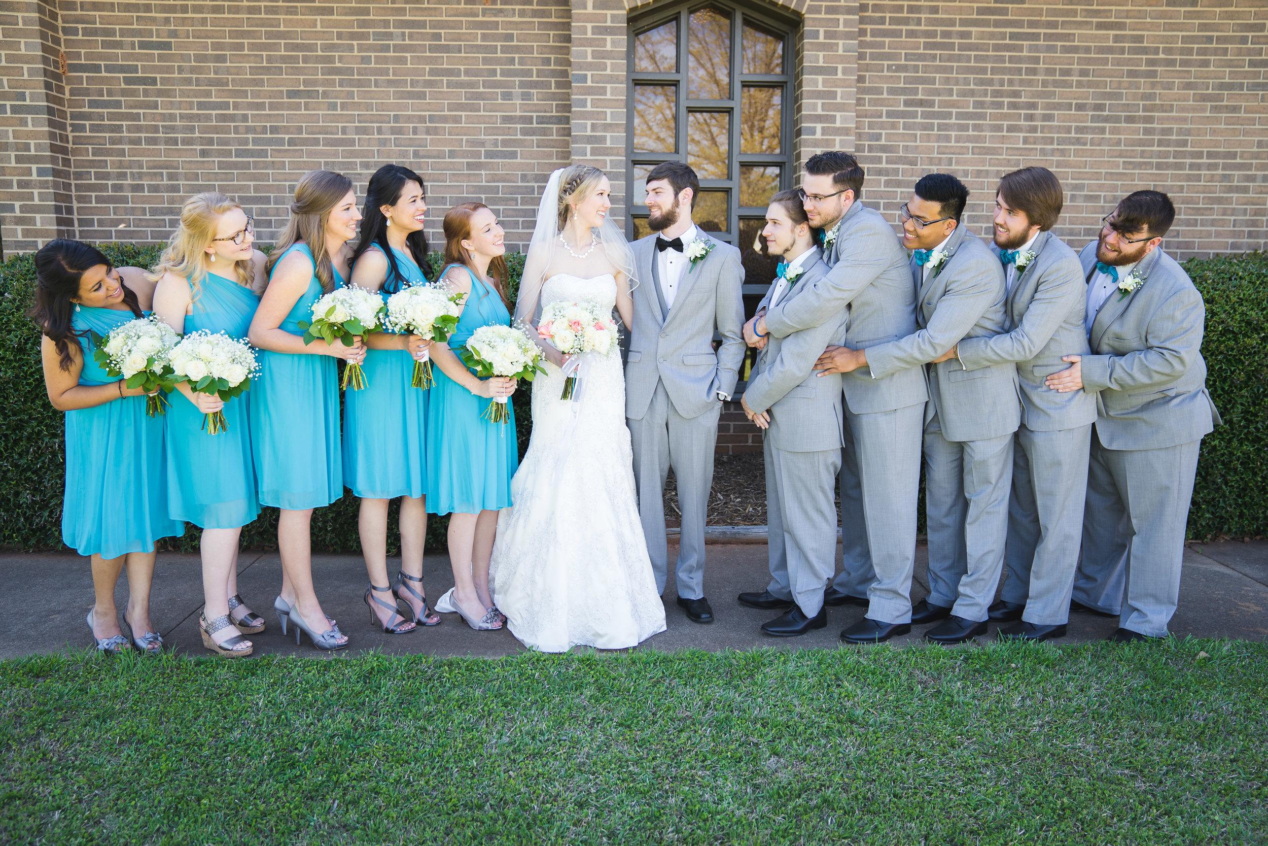 Greenville Wedding | Morningside Baptist Church Spartanburg SC Wedding party
