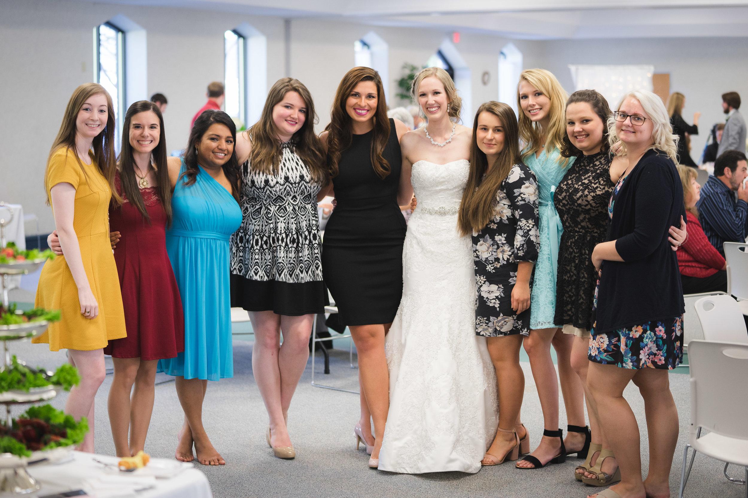 Greenville Wedding | Morningside Baptist Church Spartanburg SC Reception Guests