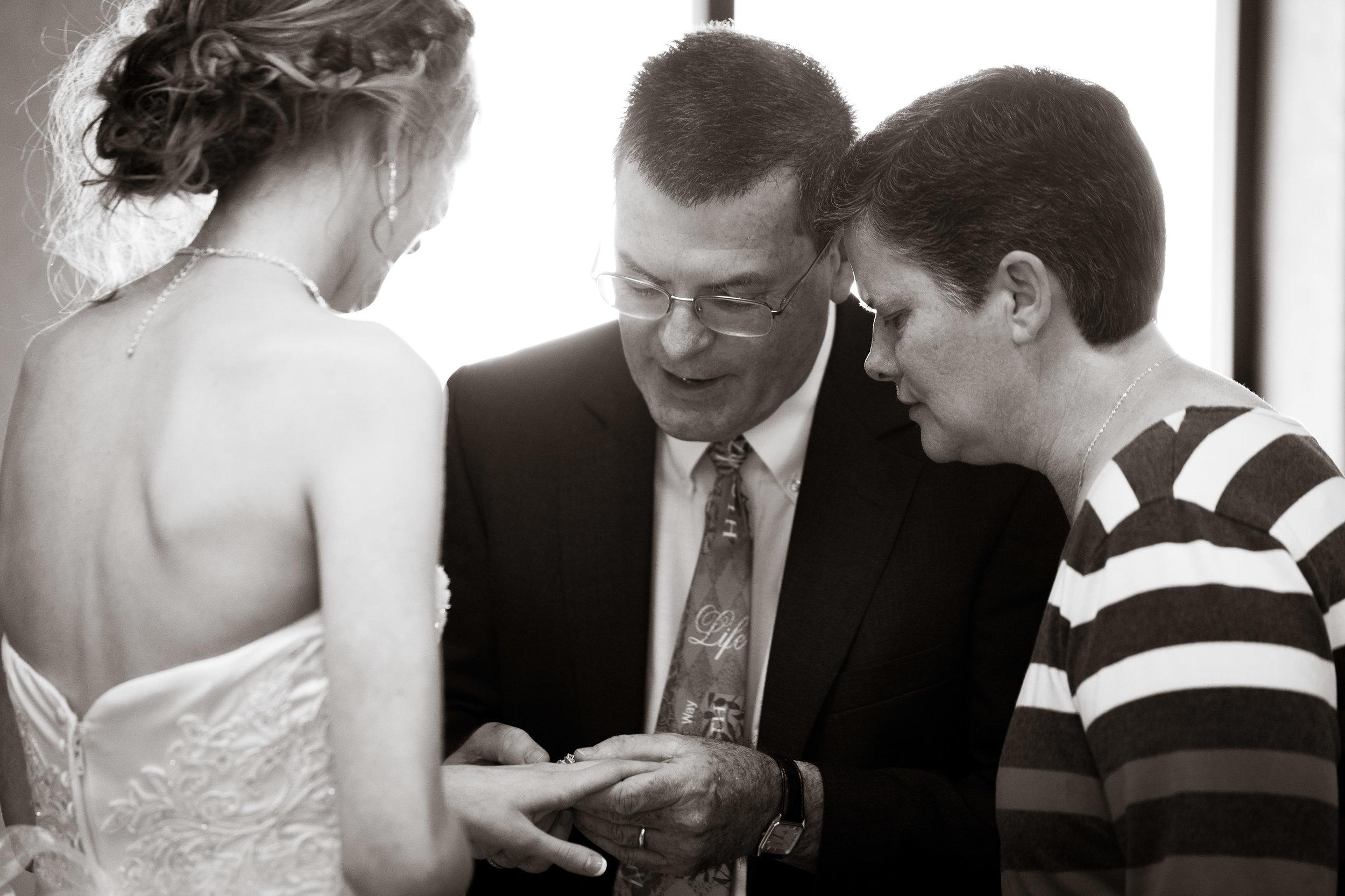 Greenville Wedding | Morningside Baptist Church Spartanburg SC Showing the Ring