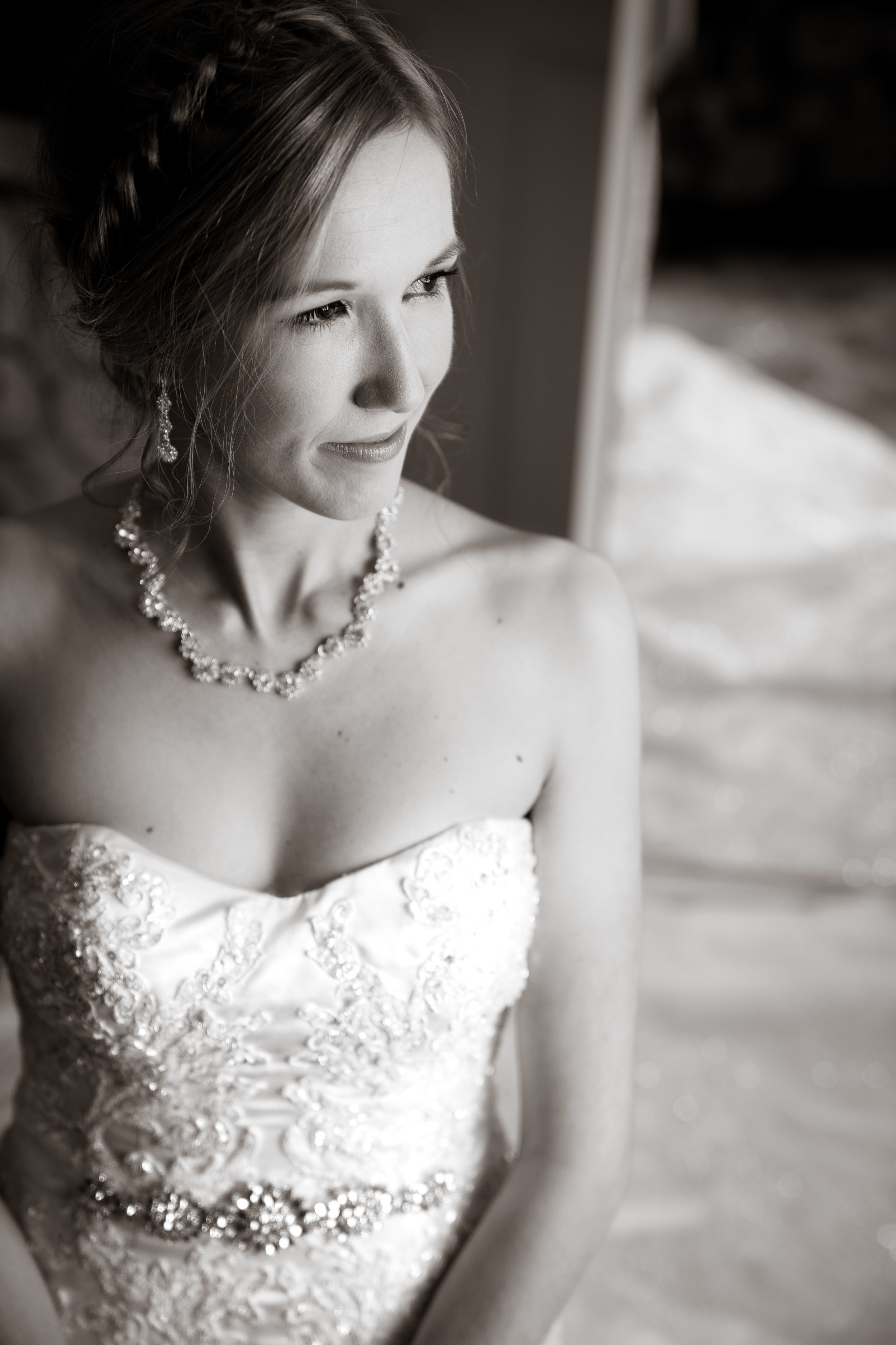 Greenville Wedding | Morningside Baptist Church Spartanburg SC Bride portrait