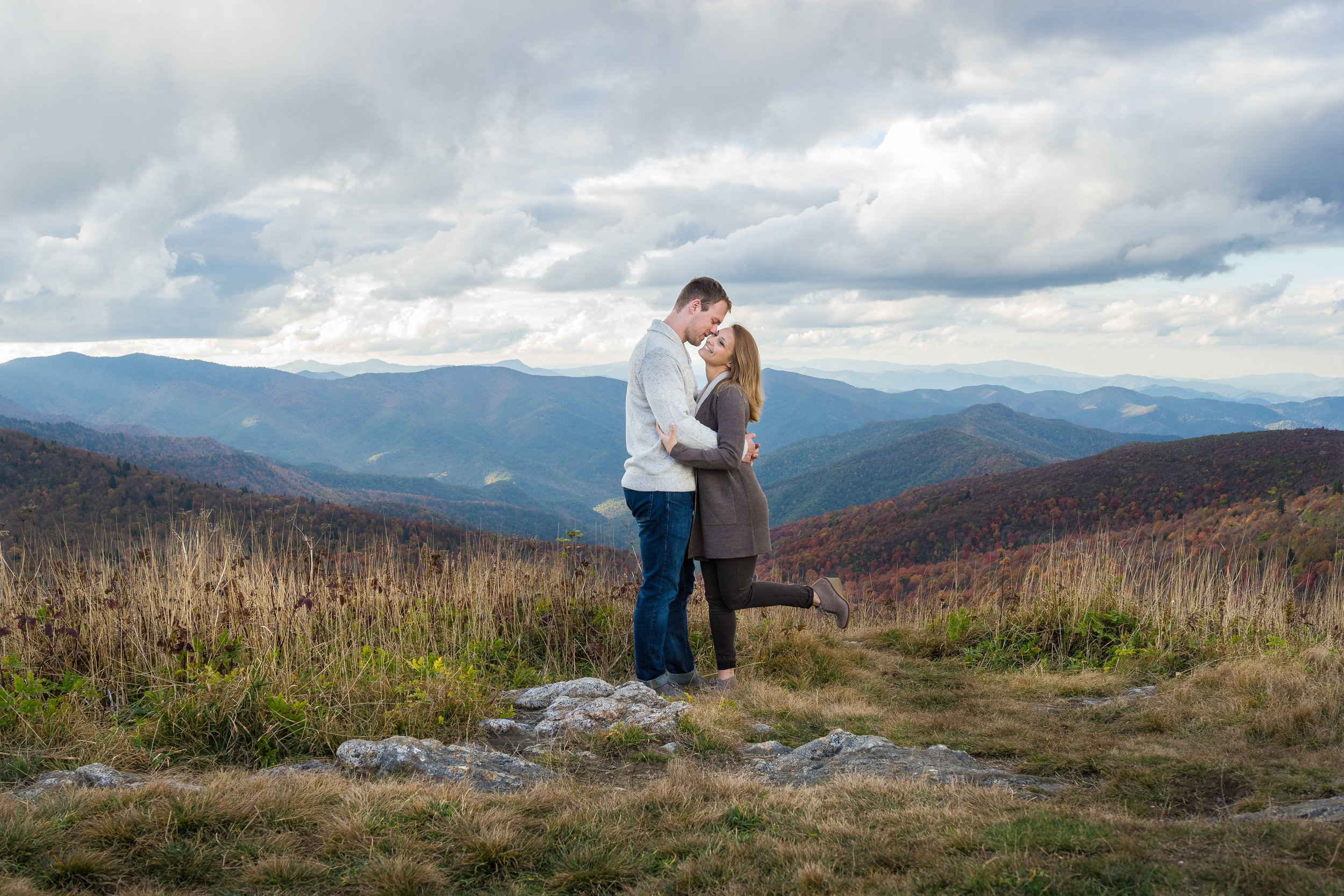 Black Balsam Knob Engagement Photos | Chelsea + Keith