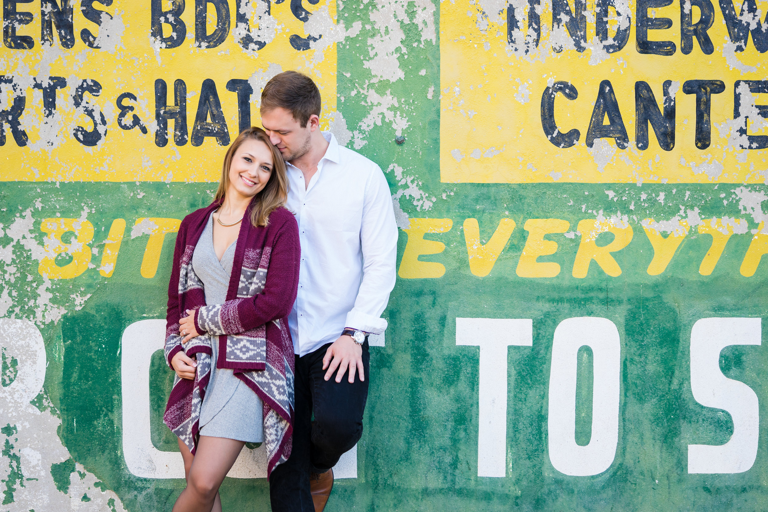Downtown Greenville Engagement Photos | Chelsea and Keith