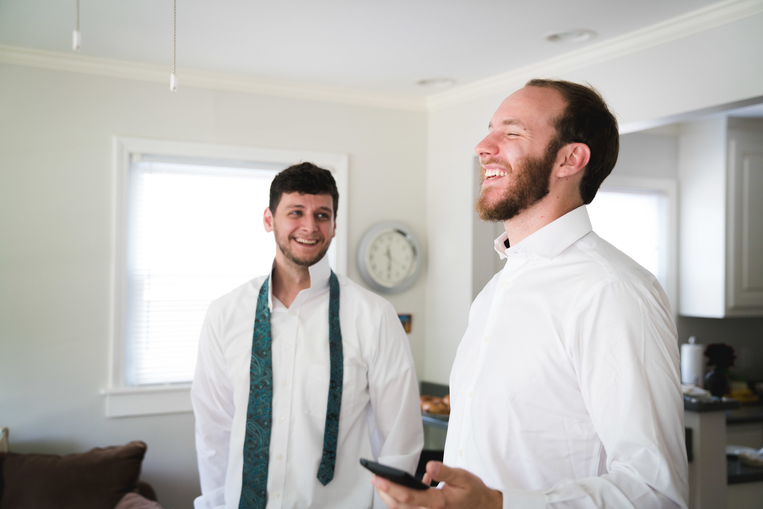 Groom with best man, Downtown Greenville Wedding