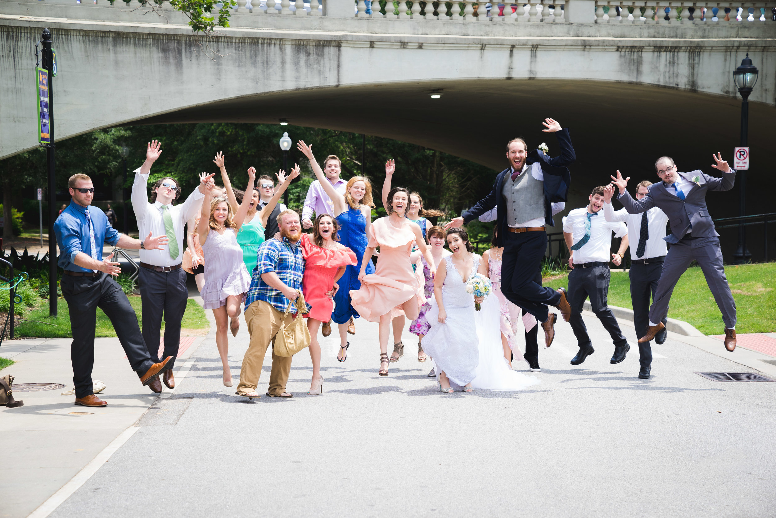Bridal party, Larkins on the River Downtown Greenville Wedding