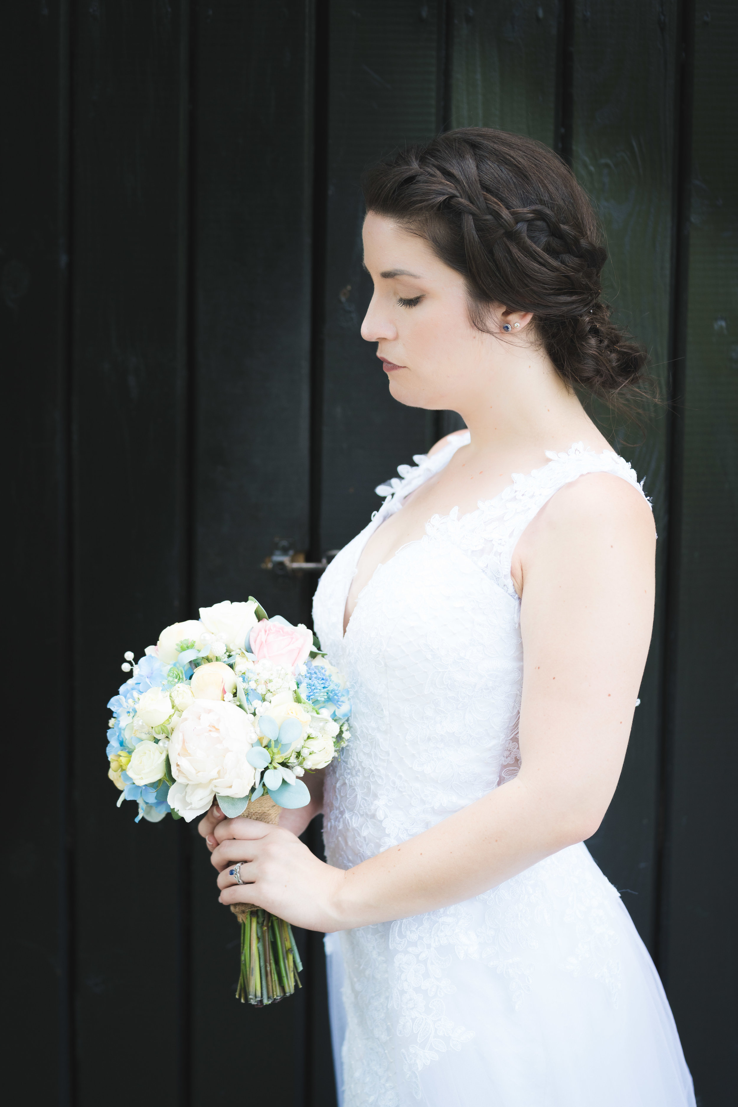 Bridal portrait, Falls Park Downtown Greenville Wedding