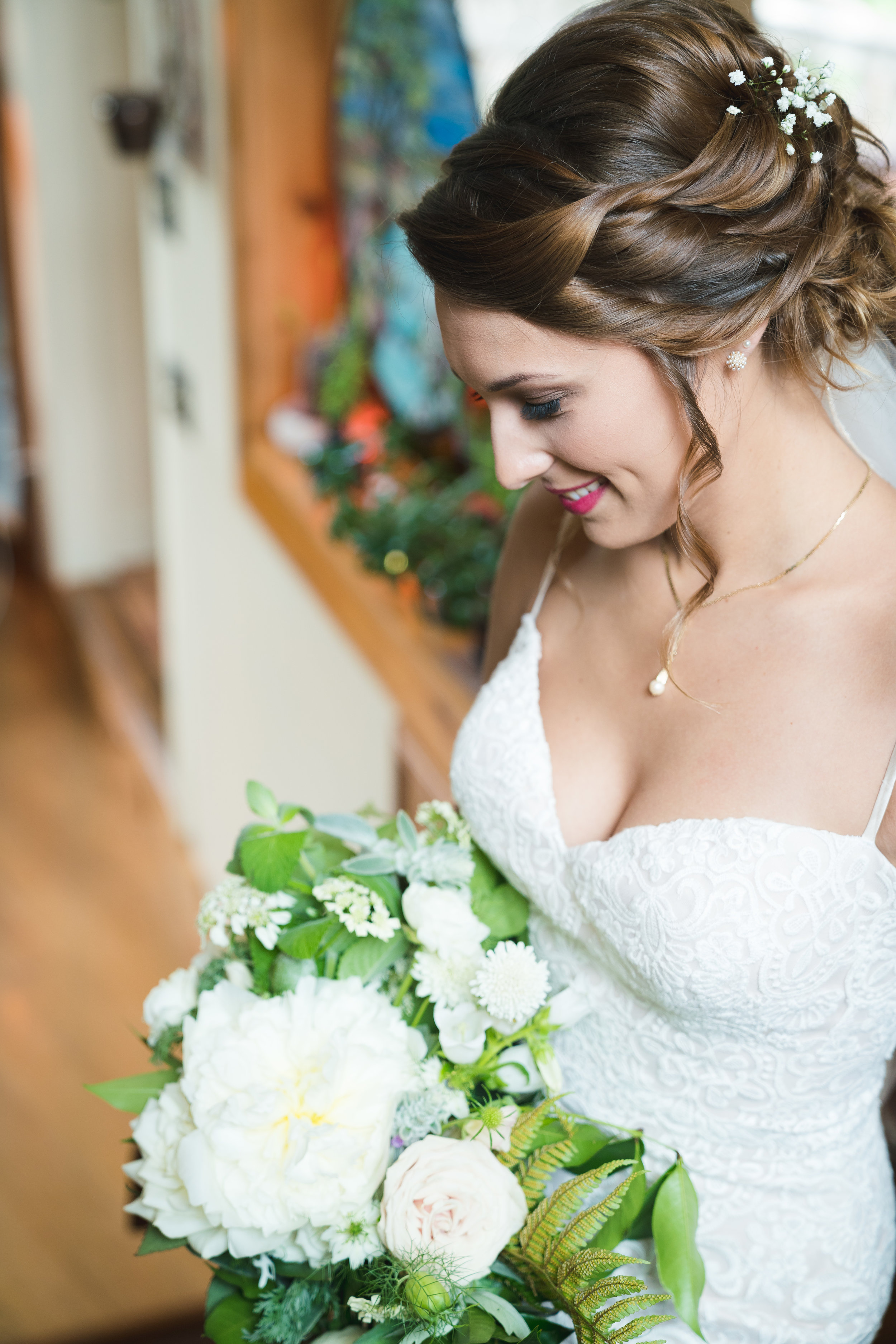The bride and bouquet - Viewpoint at Buckhorn Creek | Greenville, SC
