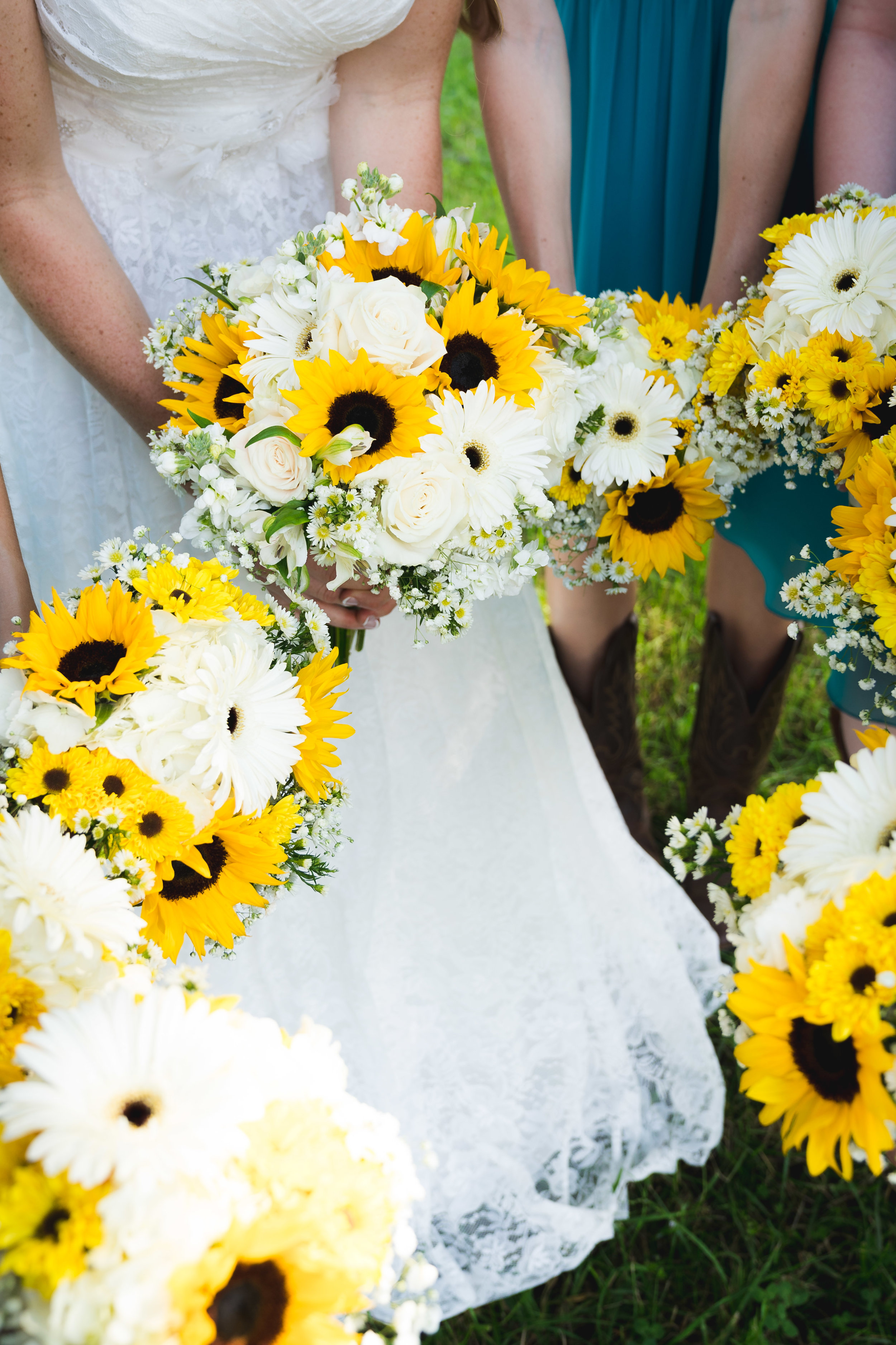 Beautiful bridal party bouquets | Windy Hill Wedding and Event Barn in Simpsonville, SC