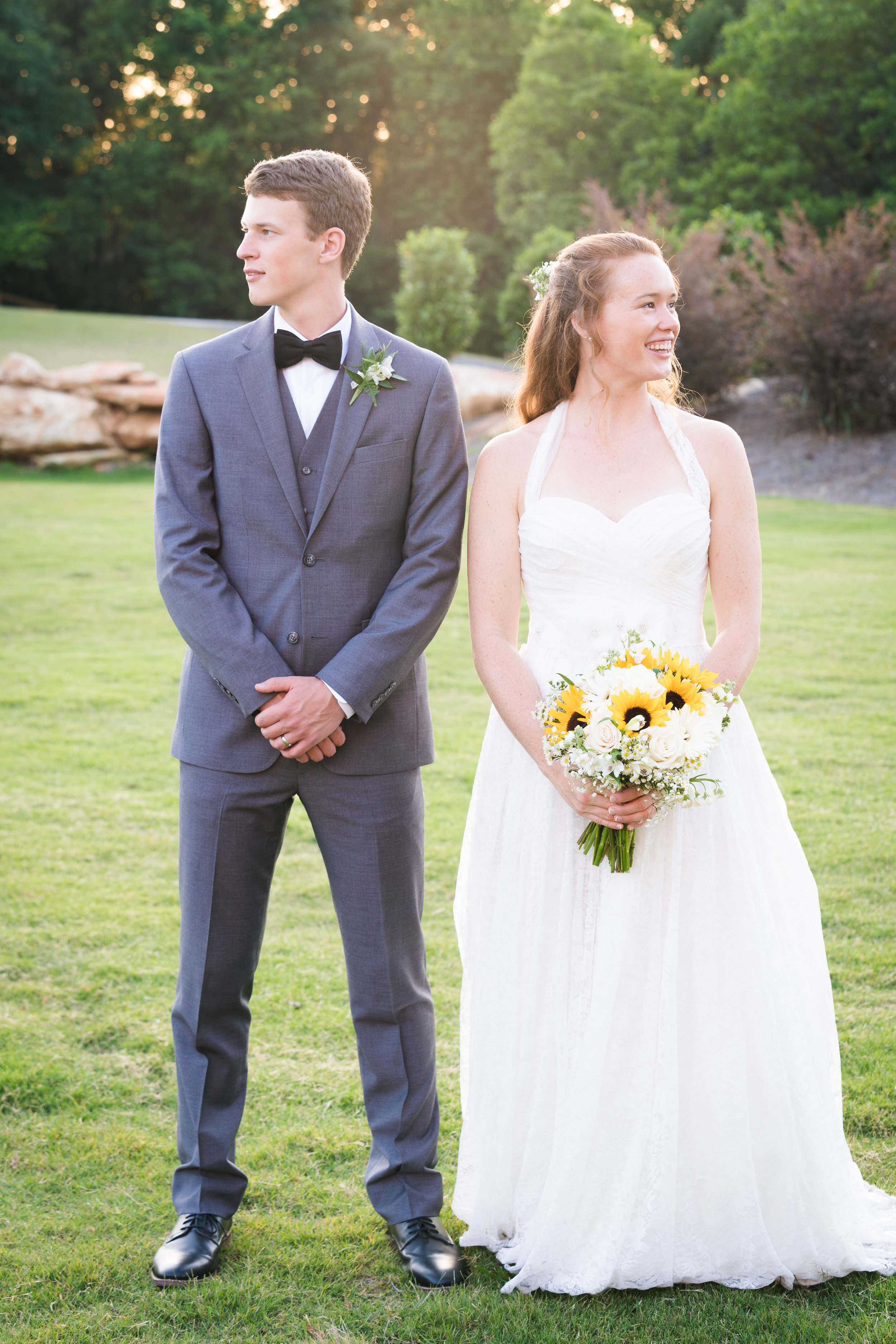 Bride and groom portrait | Windy Hill Wedding and Event Barn in Simpsonville, SC