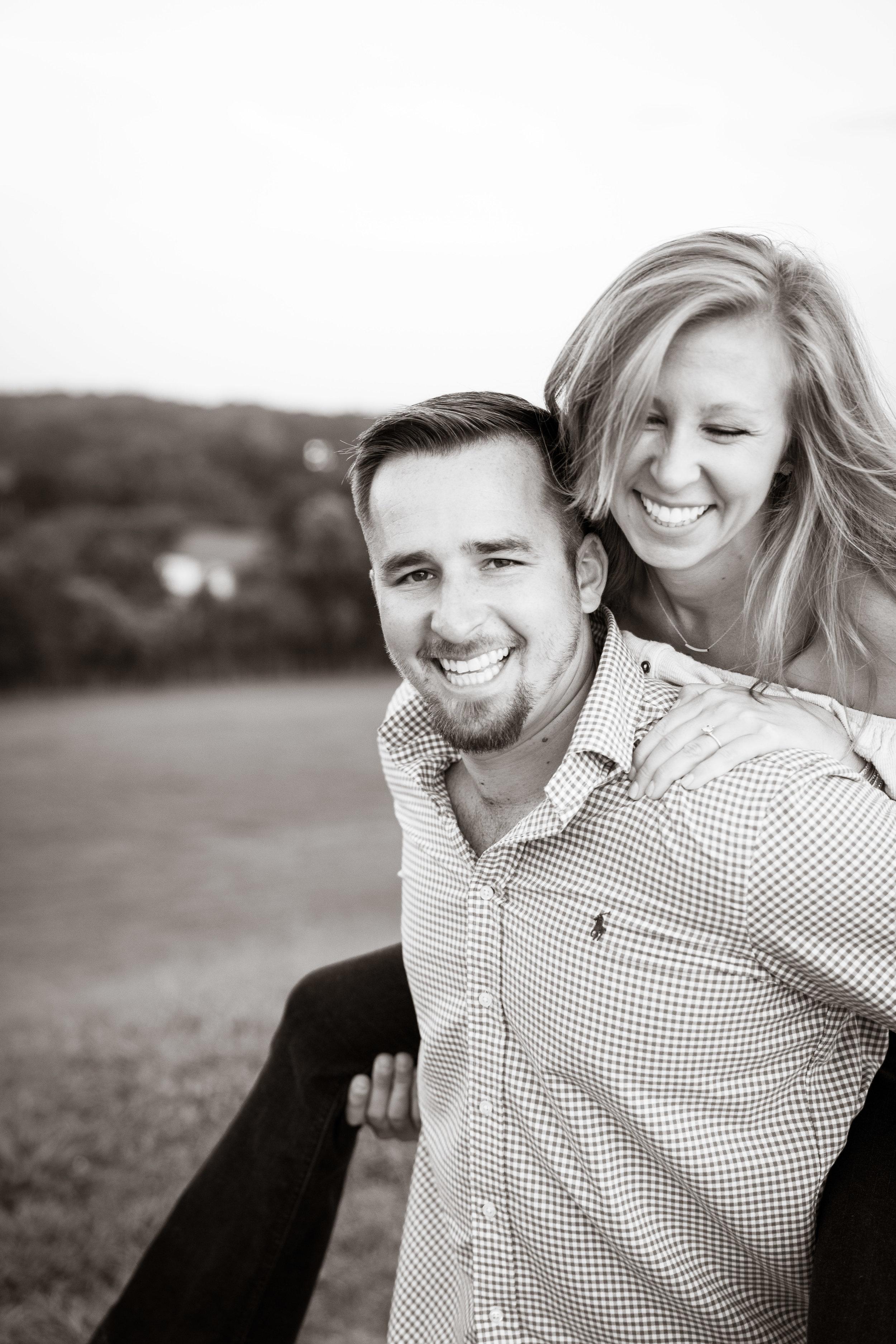 Having fun | Engagement Session in Clemson SC