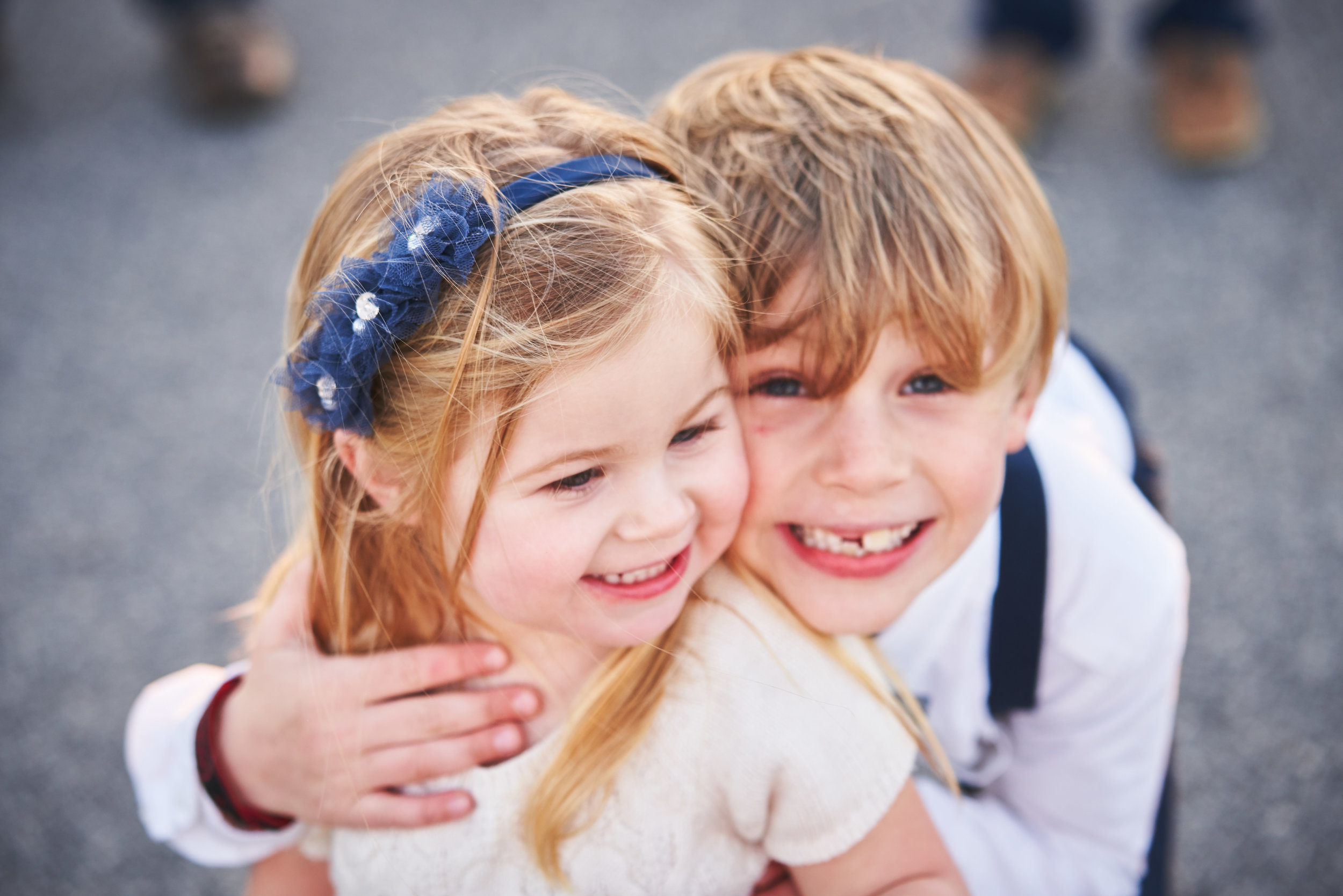 Brother and sister | Family Photo Session at the Clemson Botanical Gardens