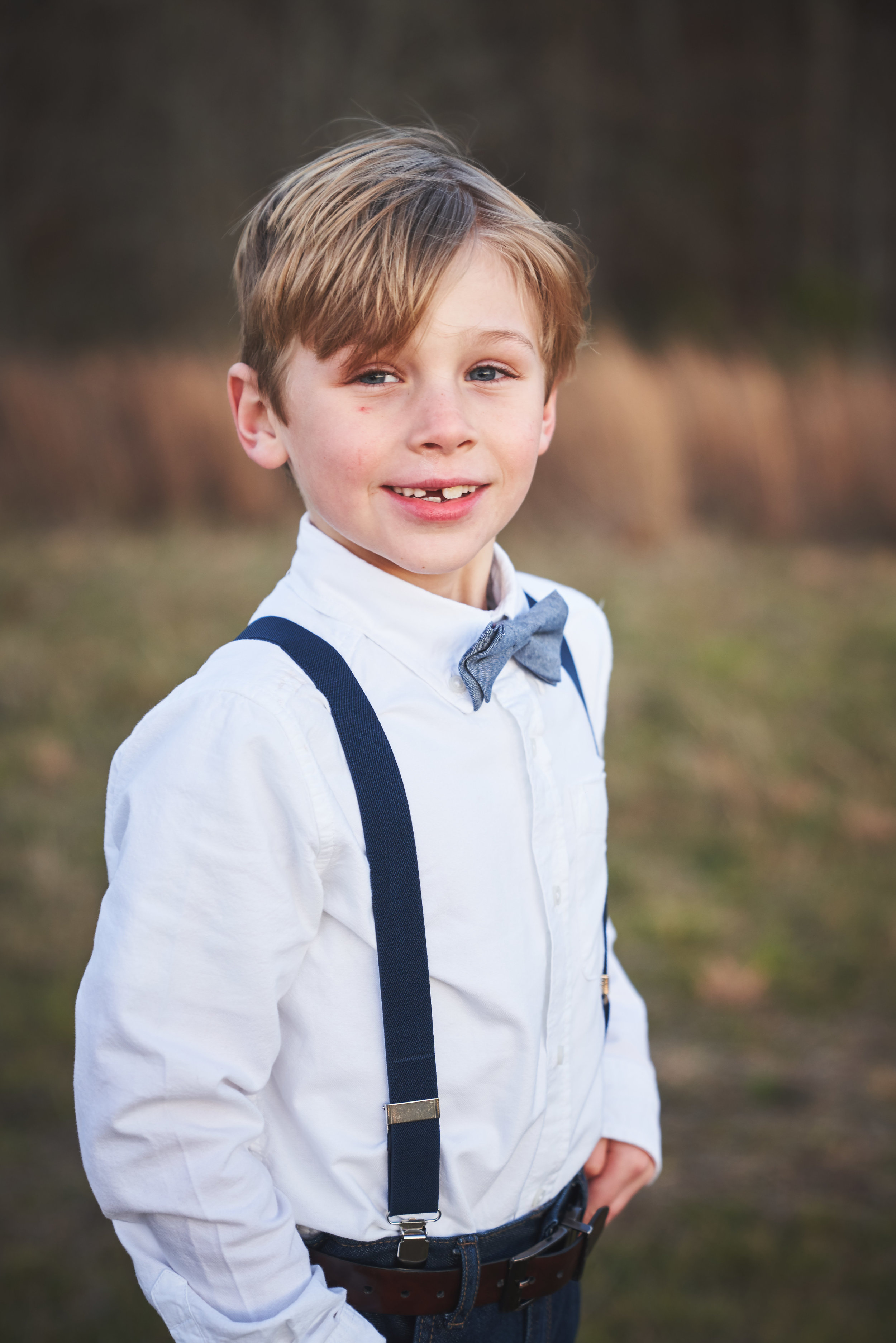 Portrait of son | Family Photo Session at the Clemson Botanical Gardens