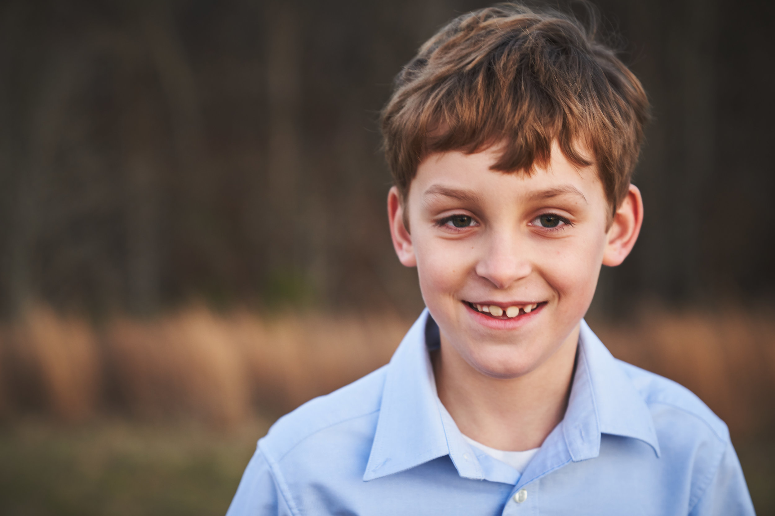 Portrait of big brother | Family Photo Session at the Clemson Botanical Gardens