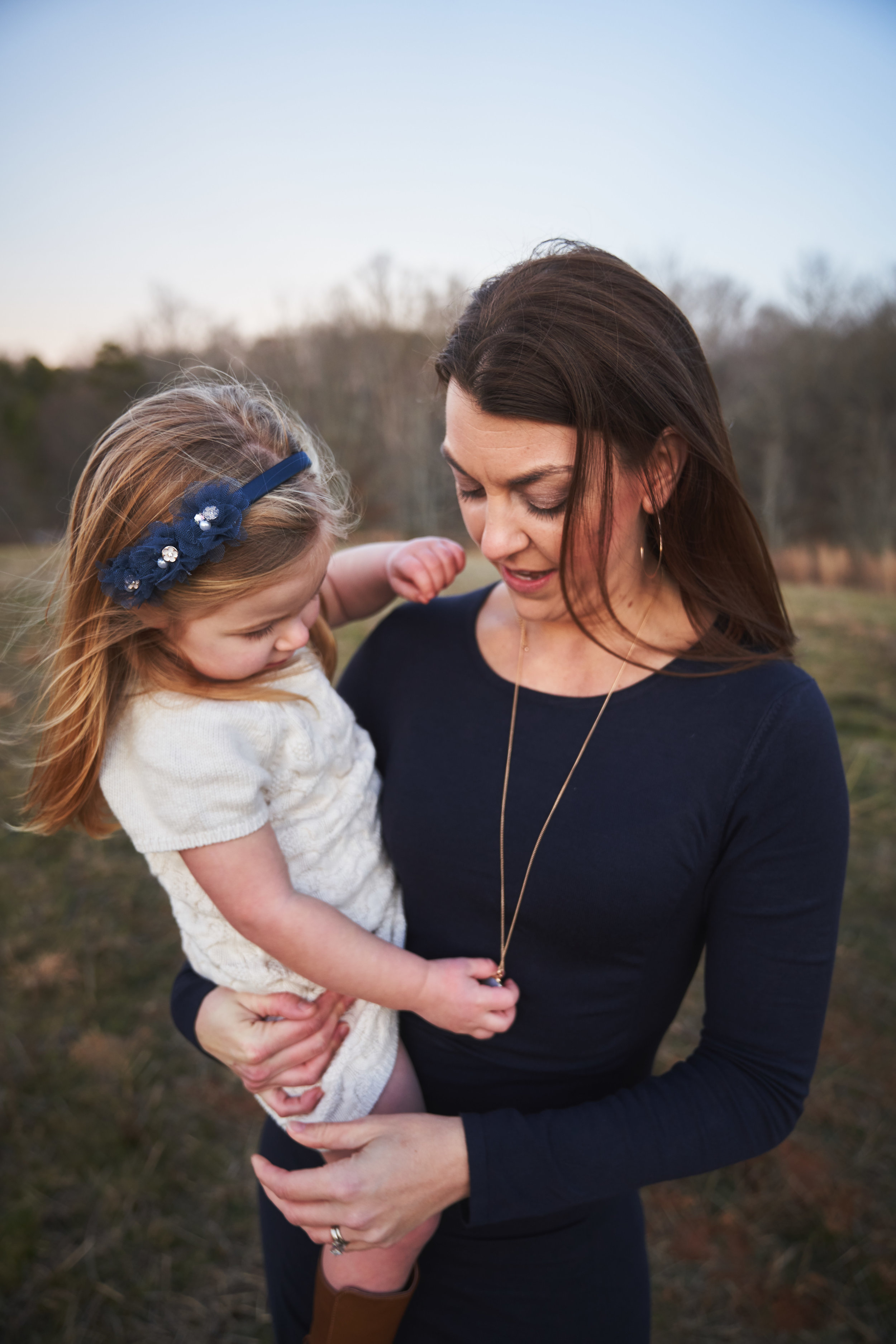Mommy and daughter | Family Photo Session at the Clemson Botanical Gardens