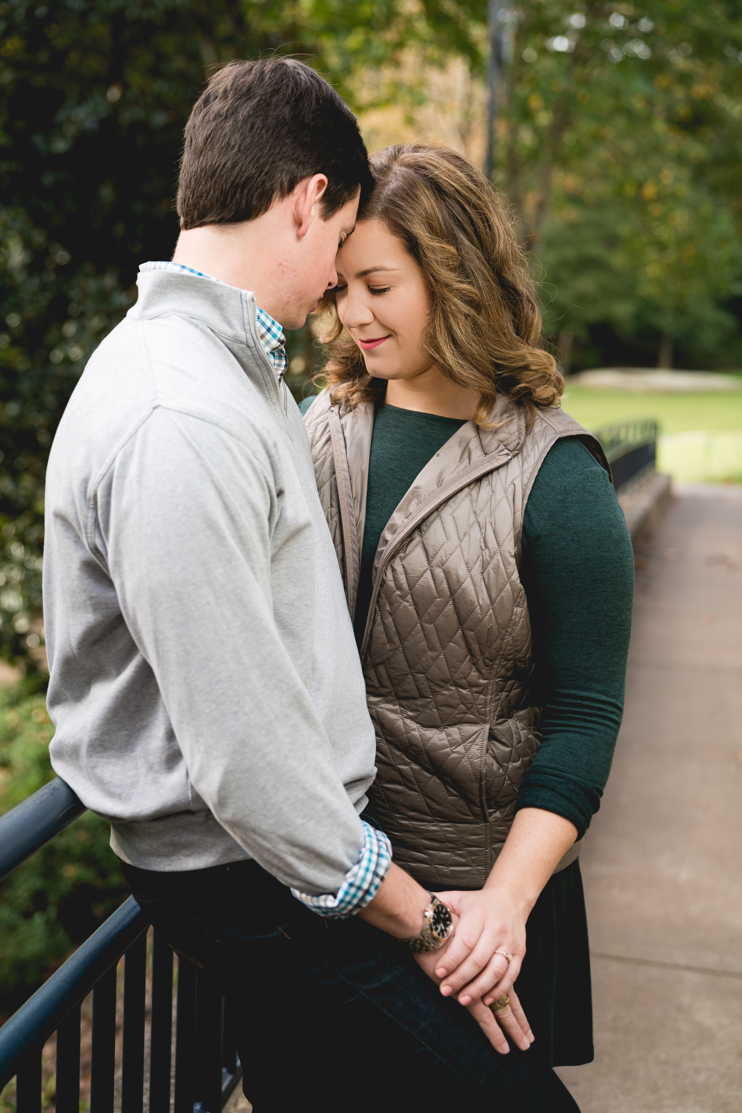 Couple in falls park | Engagement Session Downtown Greenville, SC