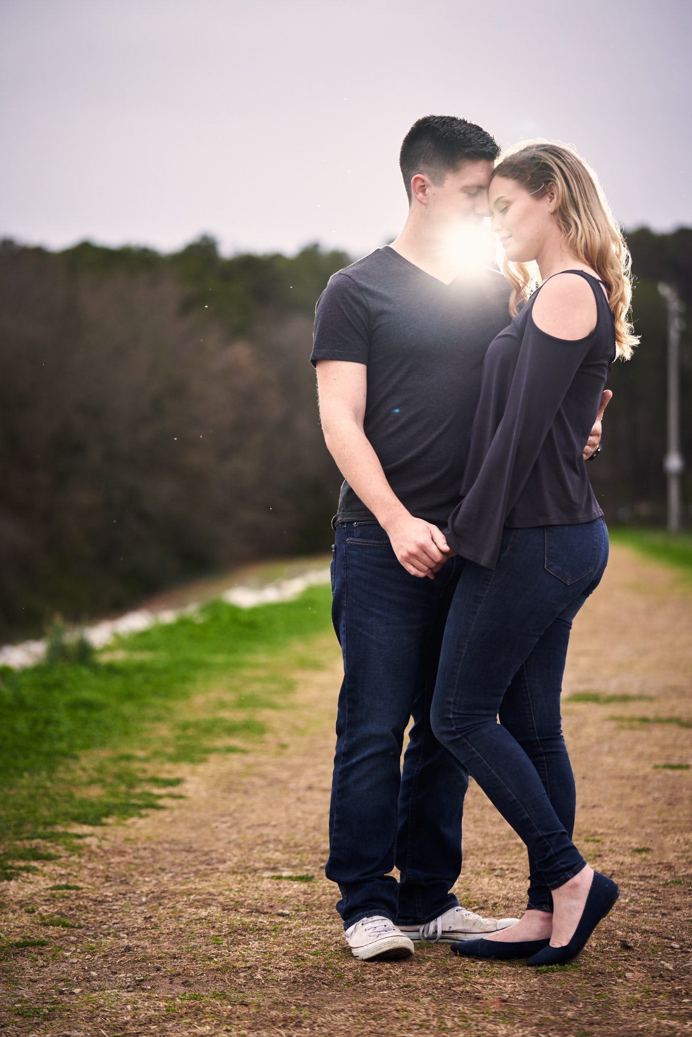 Backlight couple | Engagement Session in Clemson, SC