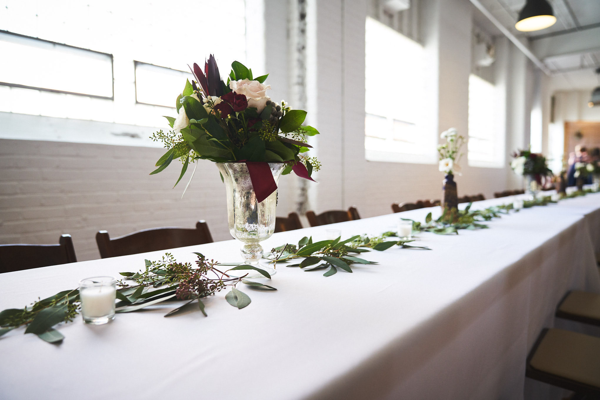 Beautiful table at Southern Bleachery in Taylors Mill