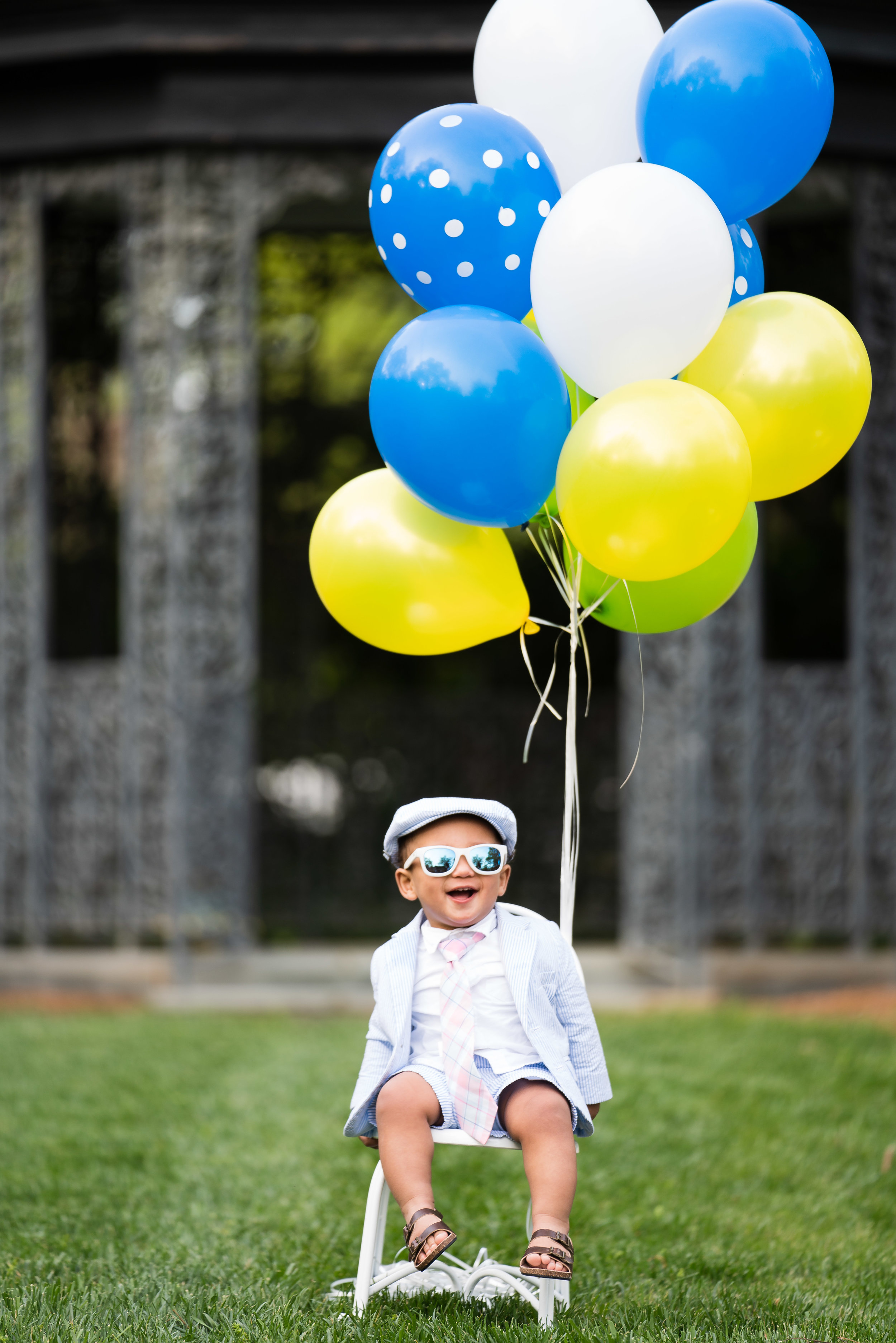 Baby with balloons photo shoot | Anderson University