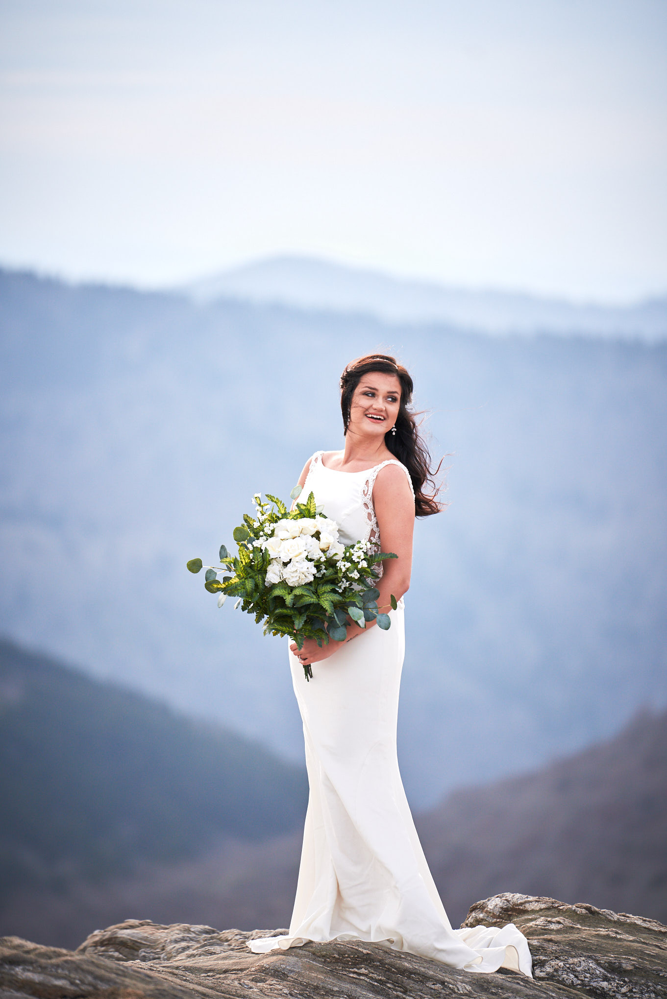 Bride at Black Balsam Knob | Greenville, SC Wedding Photographer