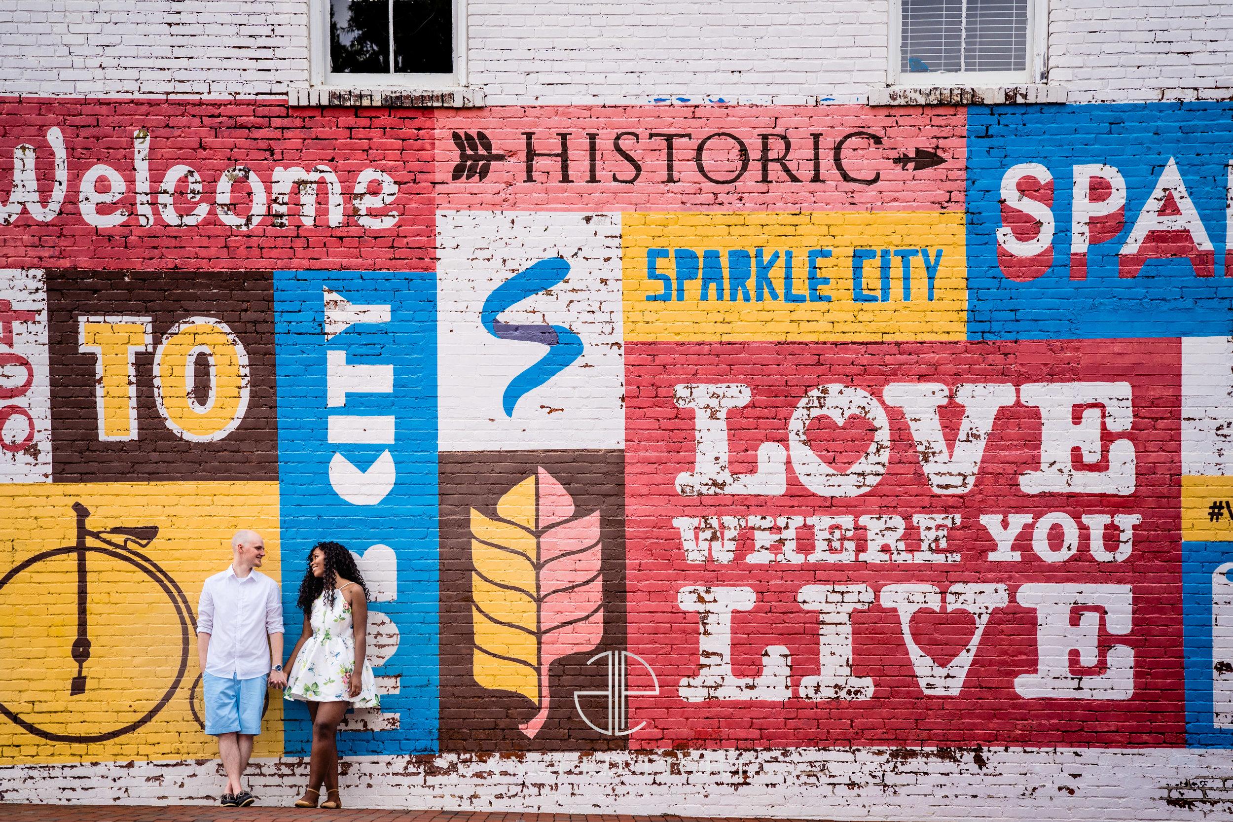 Engagement Session Downtown Spartanburg