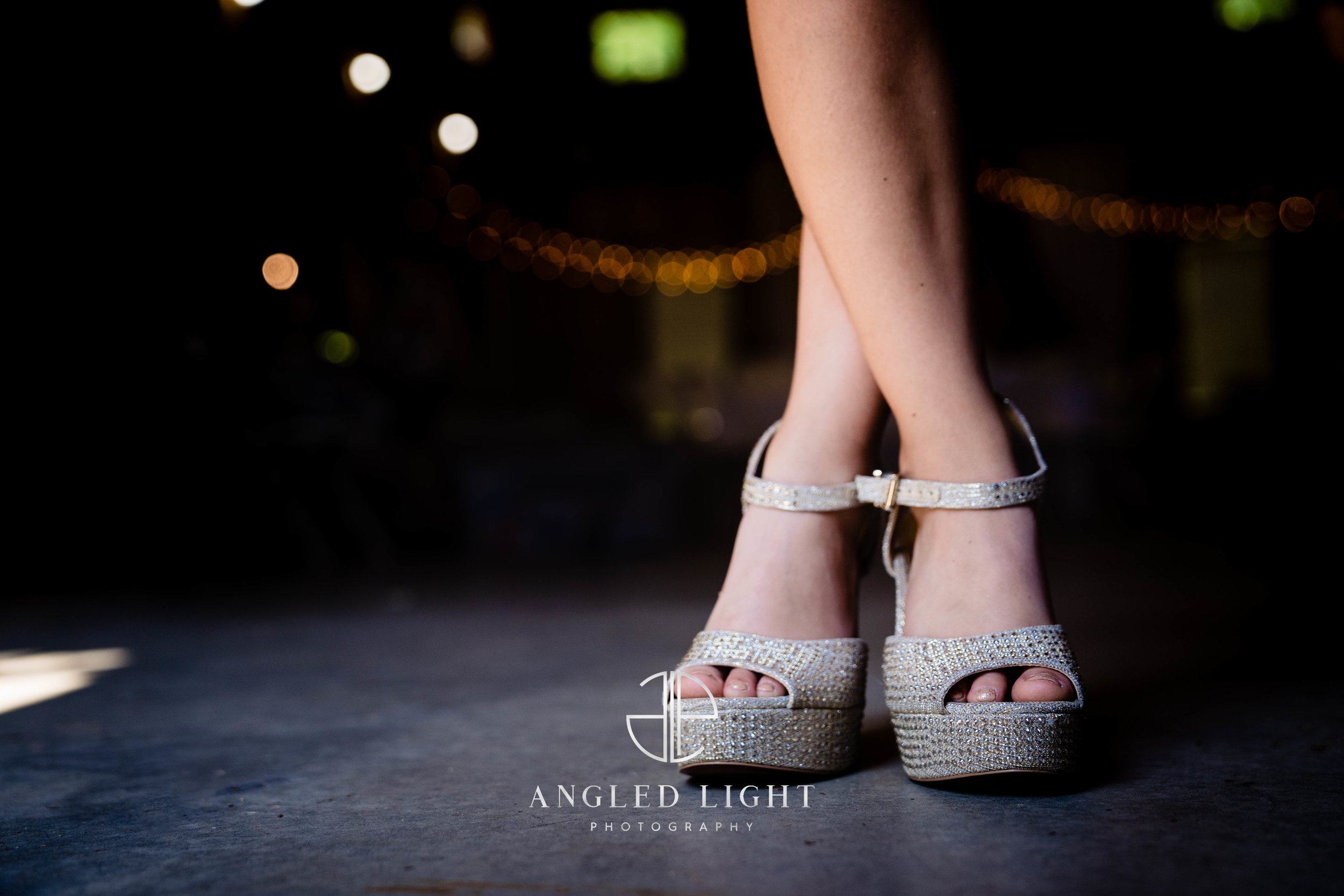 Little girl in bride shoes | The Barn at Greene Acres in Honea Path, SC