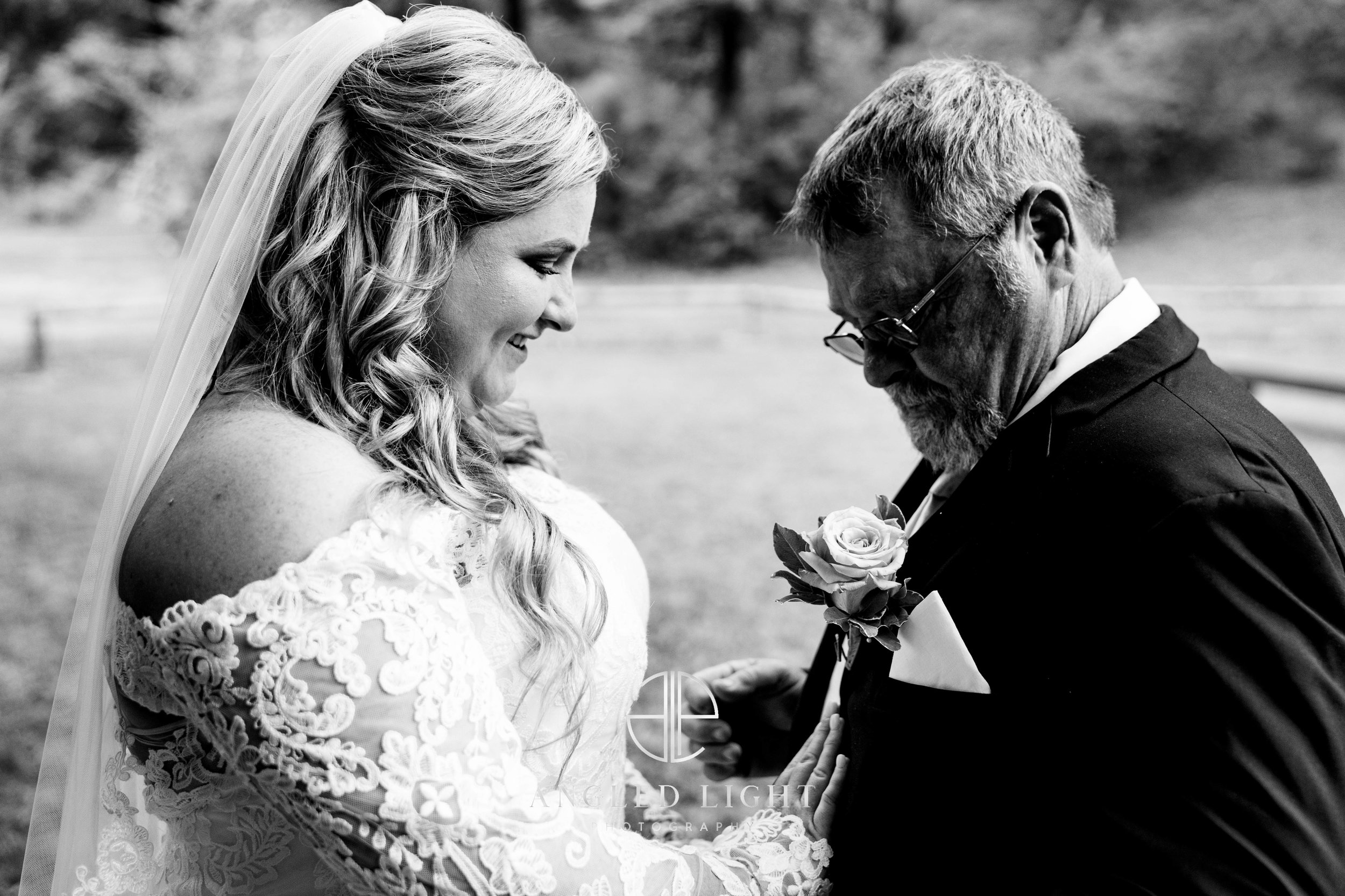 Bride and father | The Barn at Greene Acres in Honea Path, SC