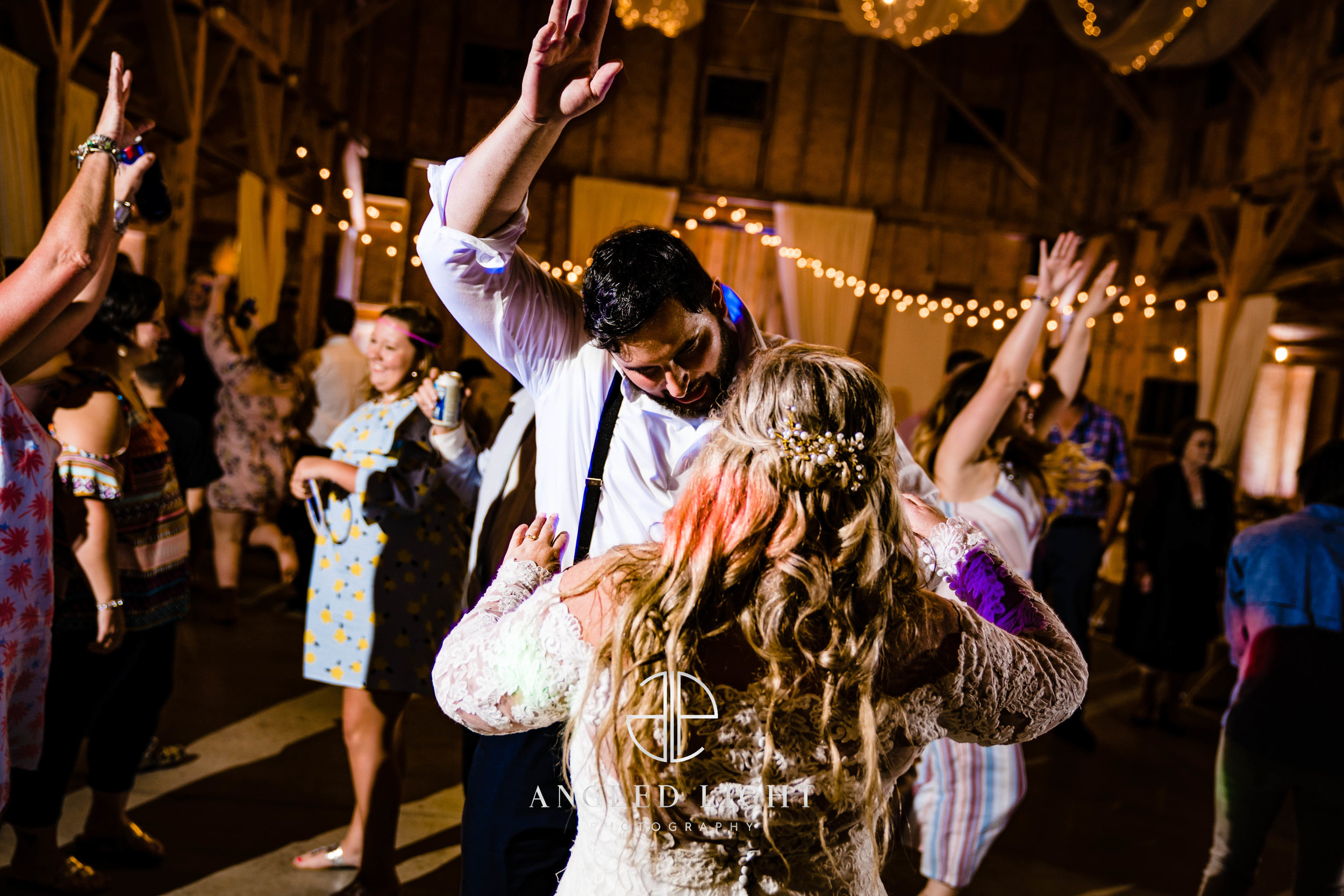 Bride and groom dancing | The Barn at Greene Acres in Honea Path, SC