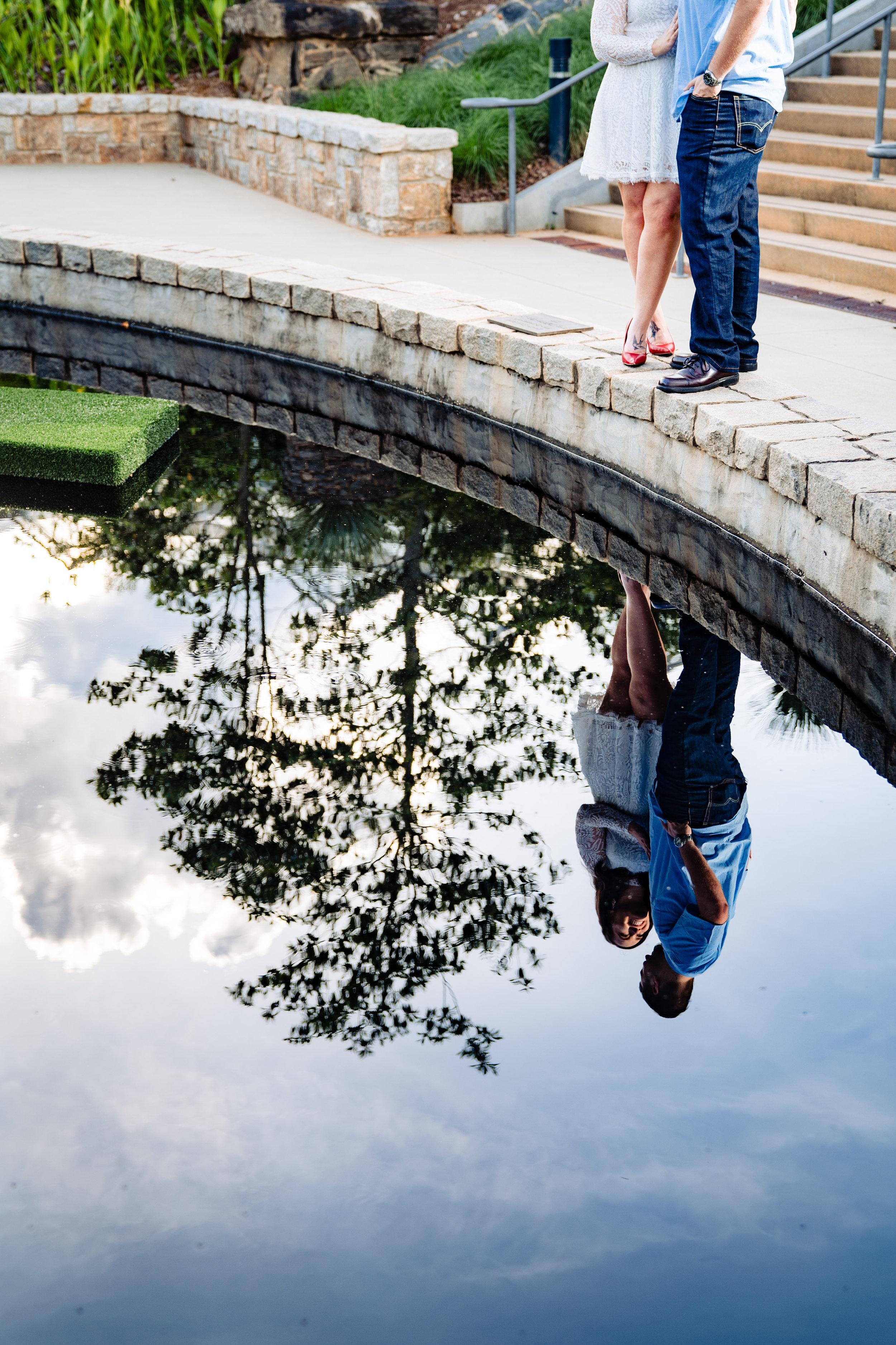 Couple Engagement Photos in Atlanta Botanical Gardens