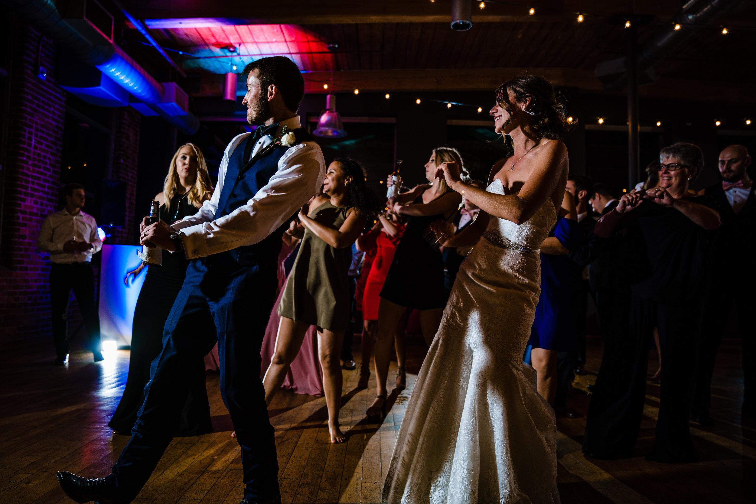 Couple Dancing   Huguenot Mill Wedding Greenville SC