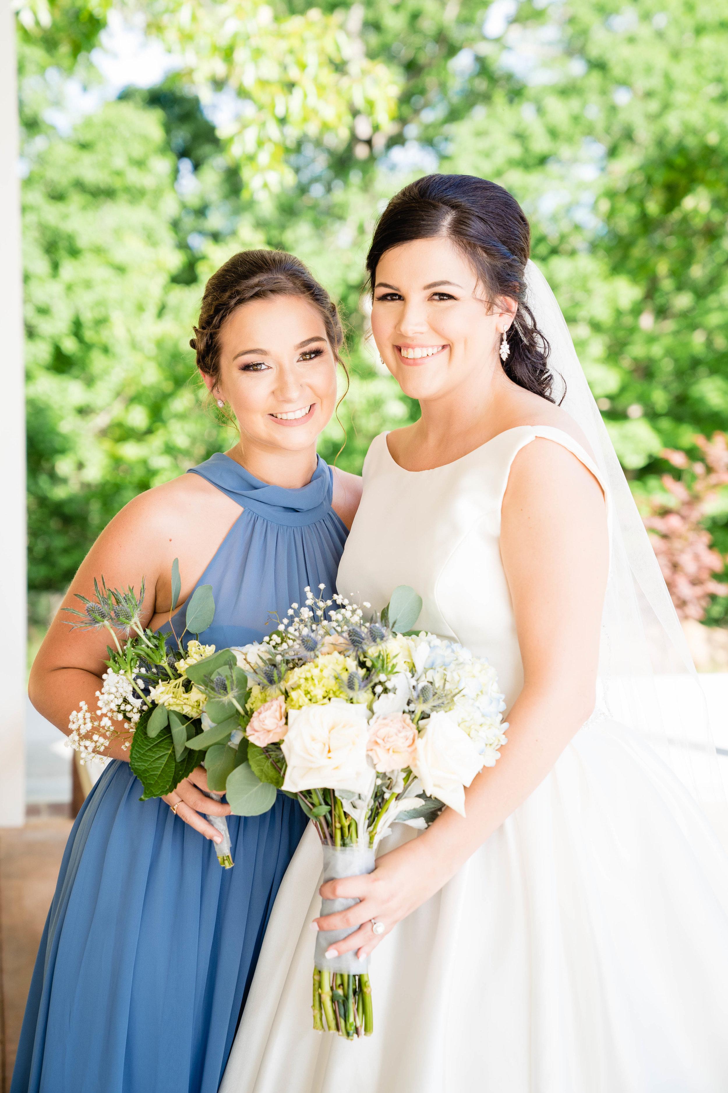 Bride + Bridesmaid in Greenville SC