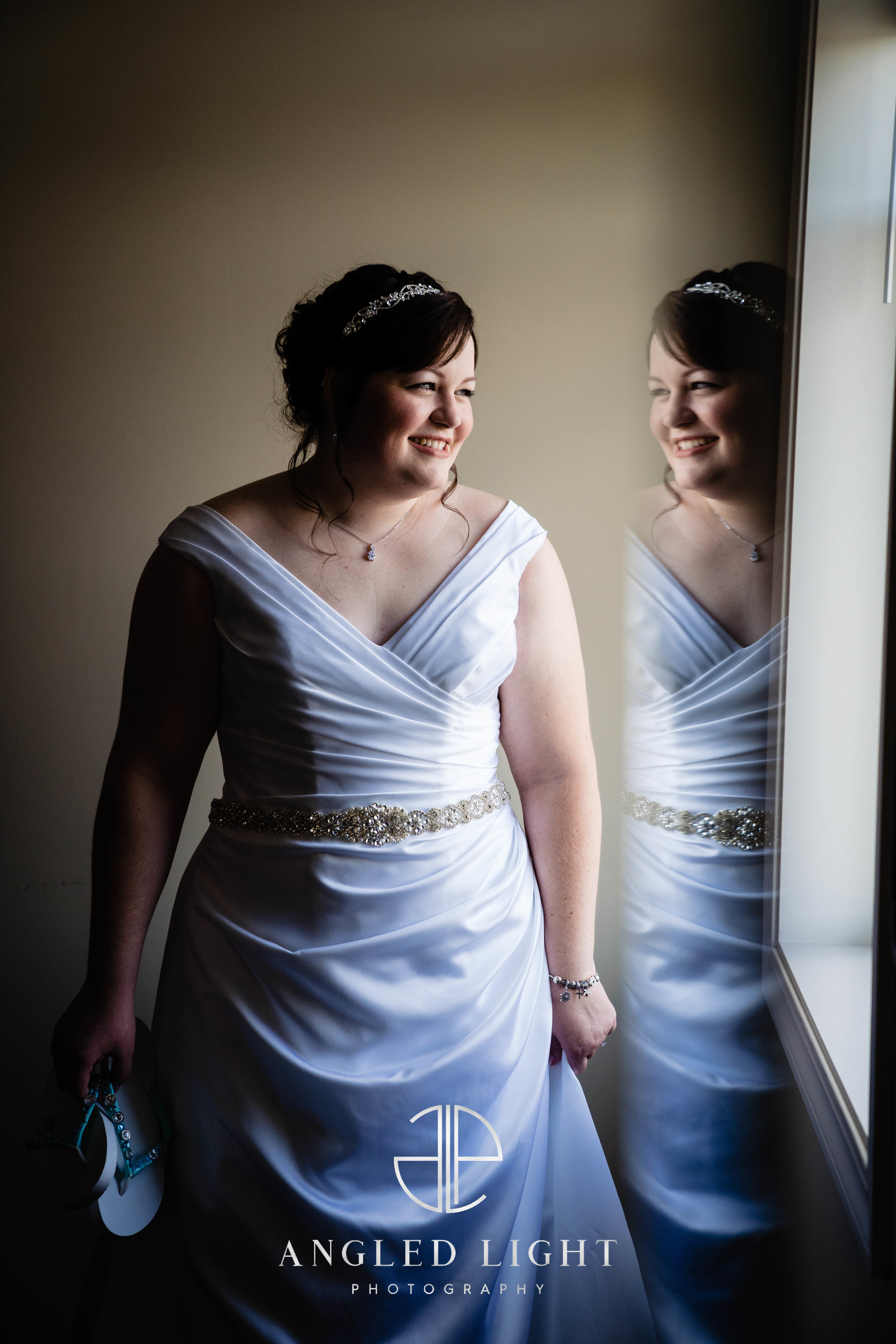 Bride watching guests