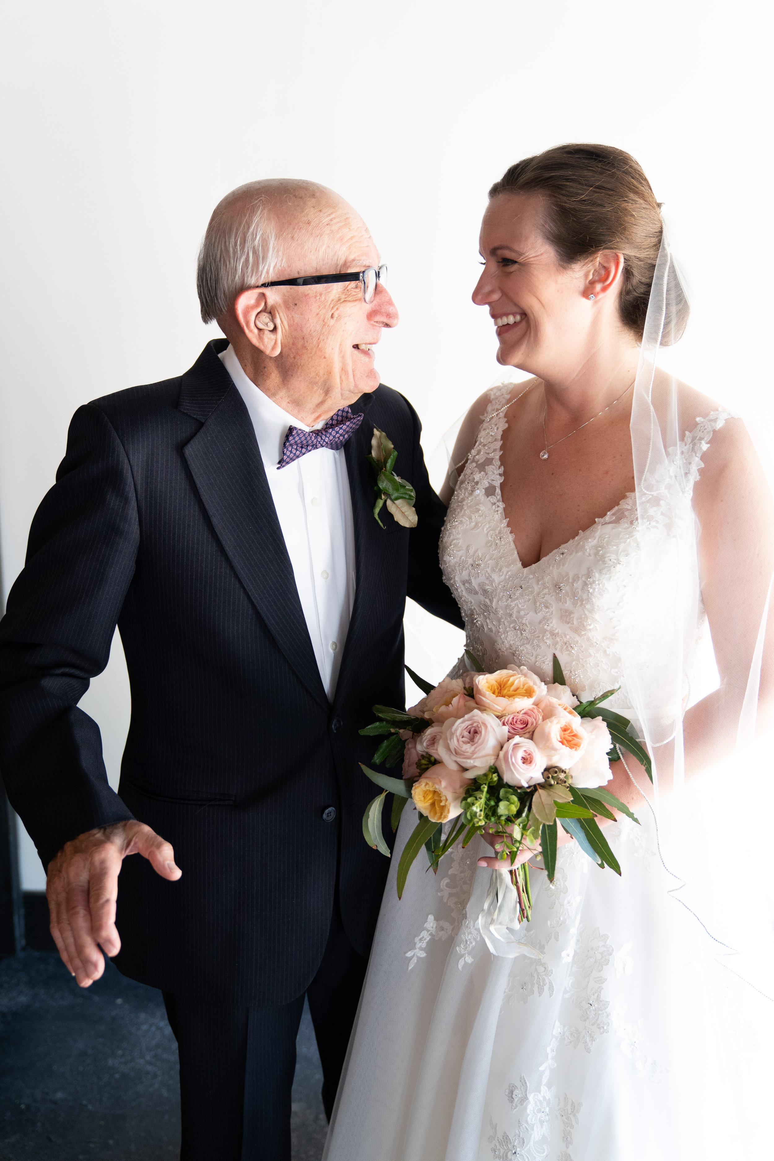 Bride with her Grandfather | The Rutherford Greenville SC