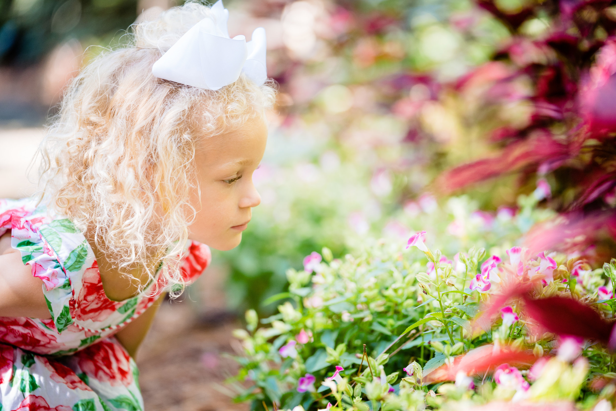 Smelling the flowers | Family Session Clemson SC