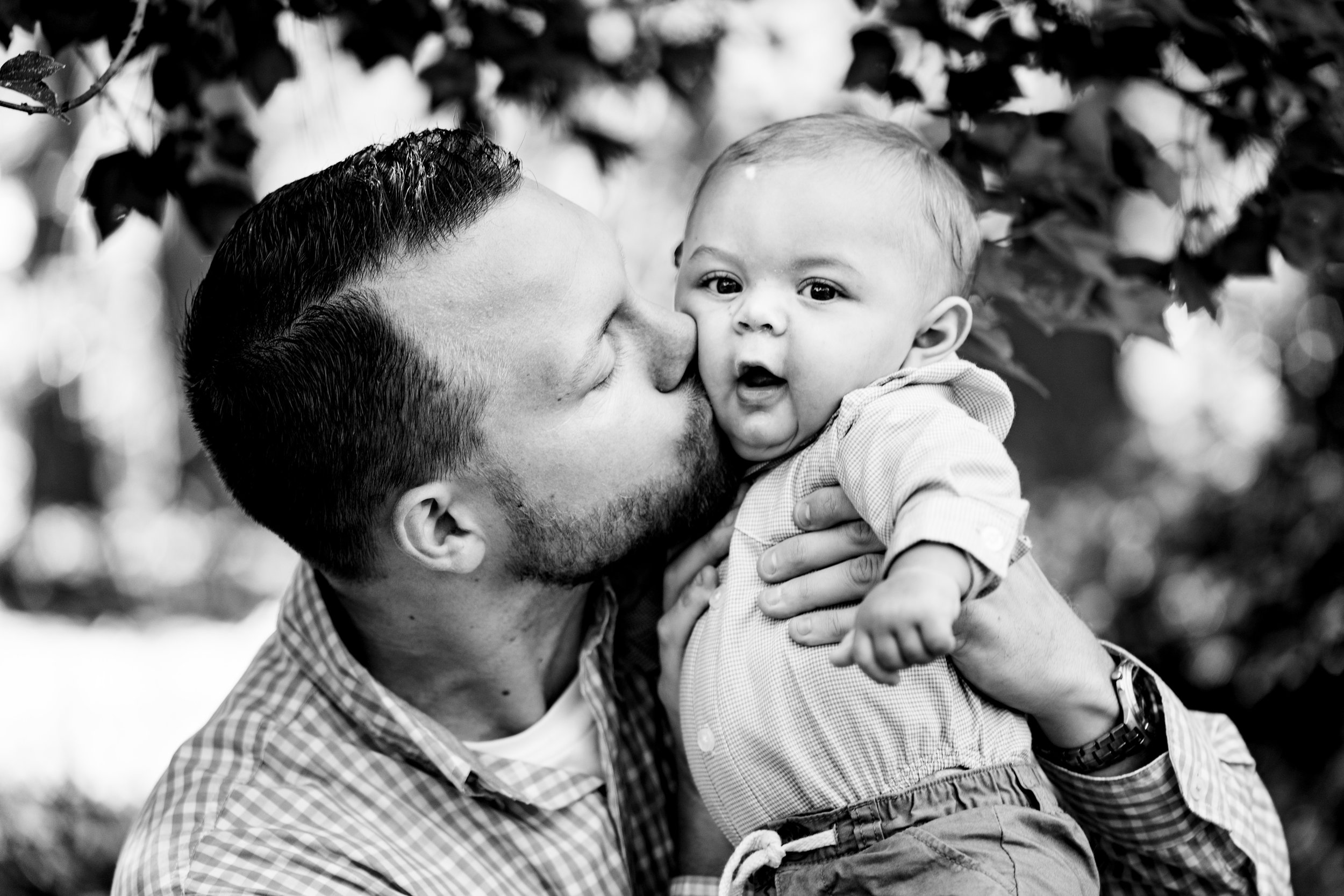 Father kissing the baby | Family Session Clemson SC